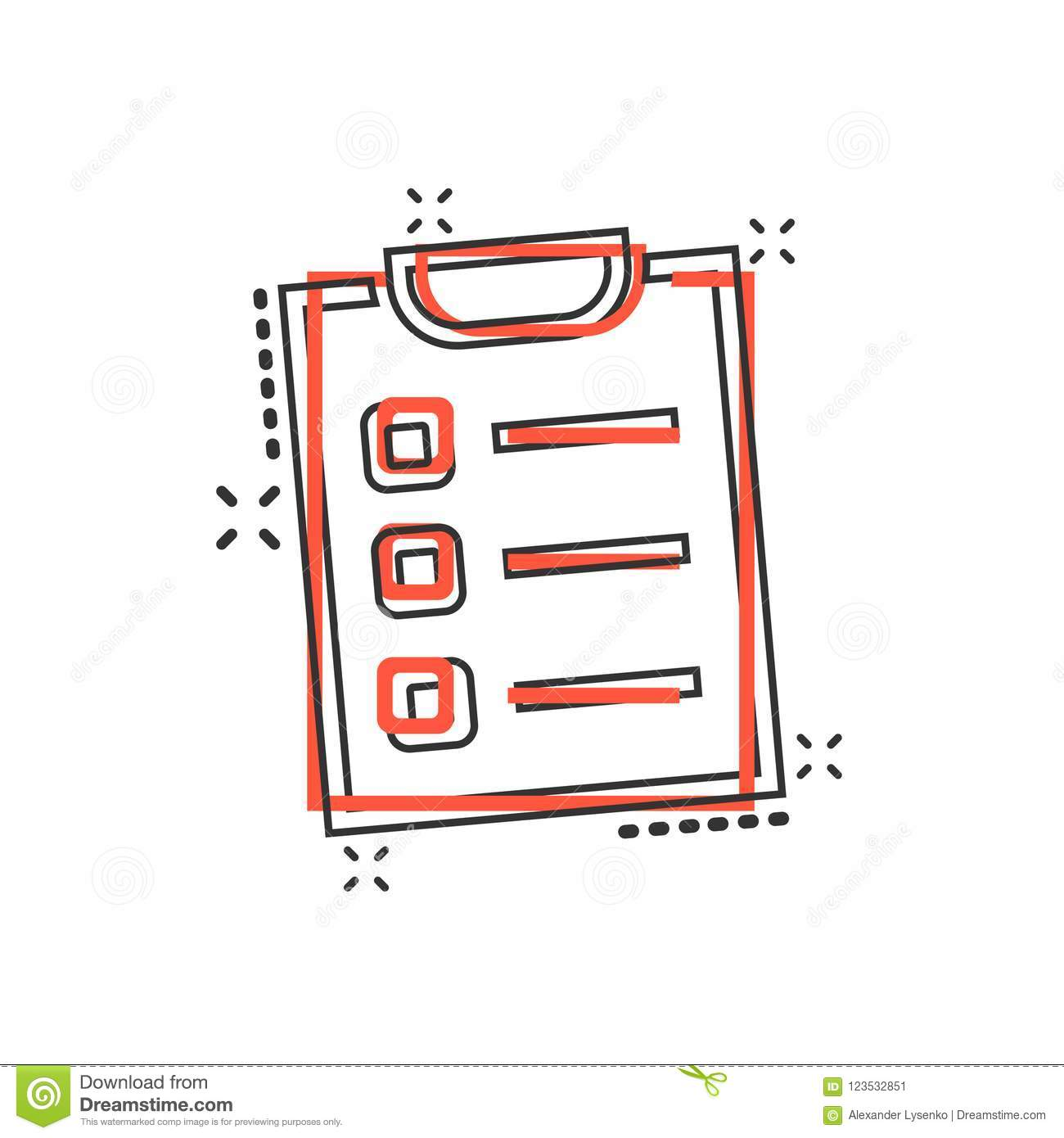 vector cartoon to do list icon in comic style checklist task l