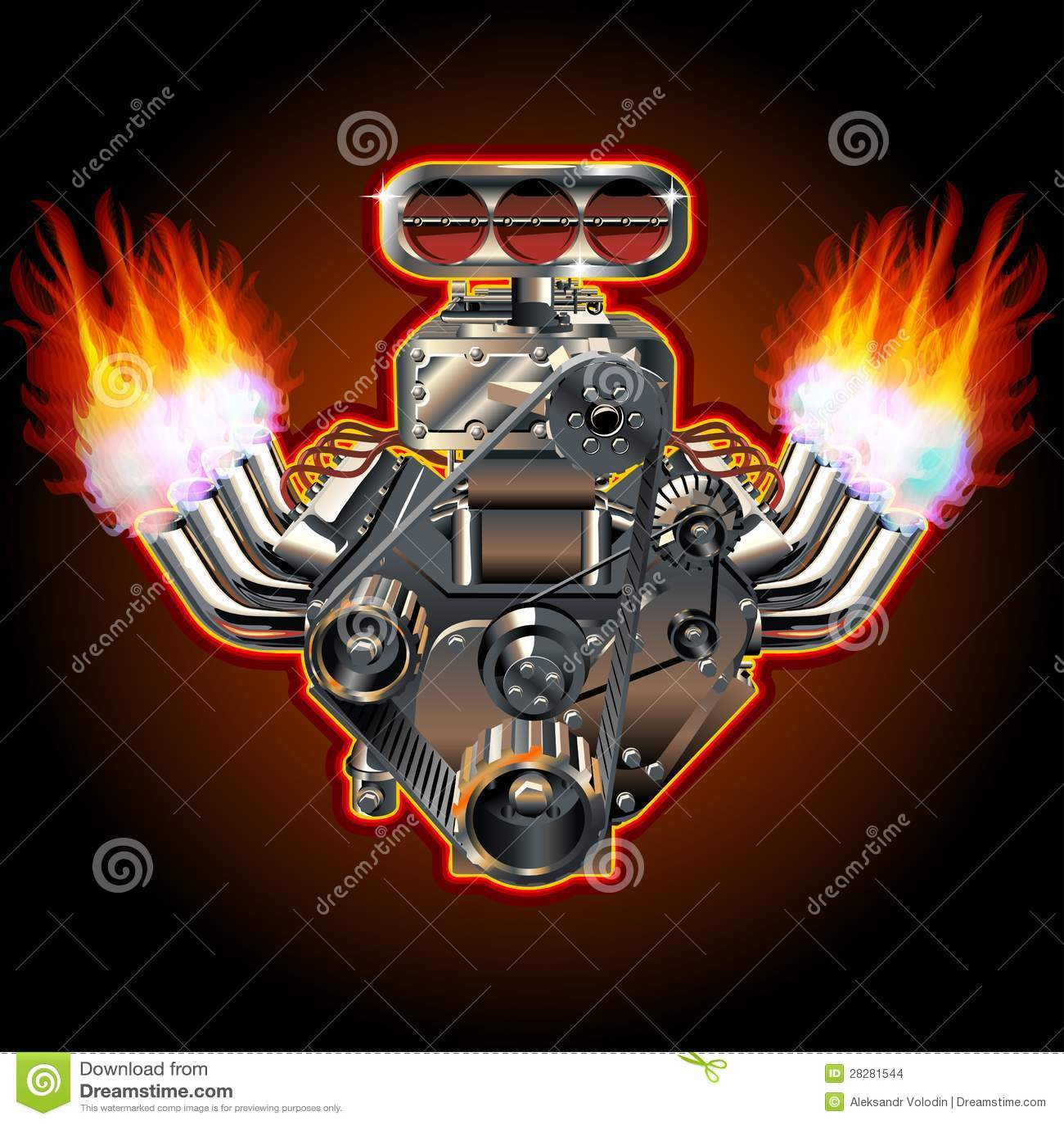 Vector Cartoon Turbo Engine Stock Images - Image: 28281544