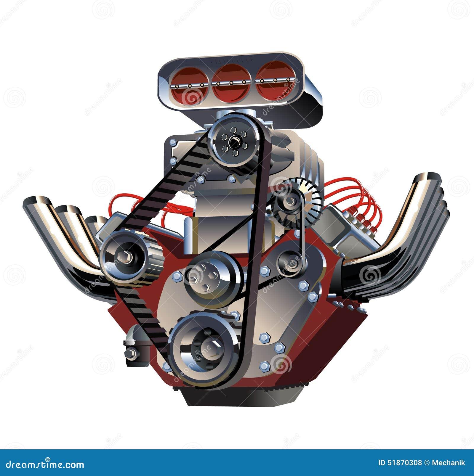Vector Cartoon Turbo Engine Stock Vector