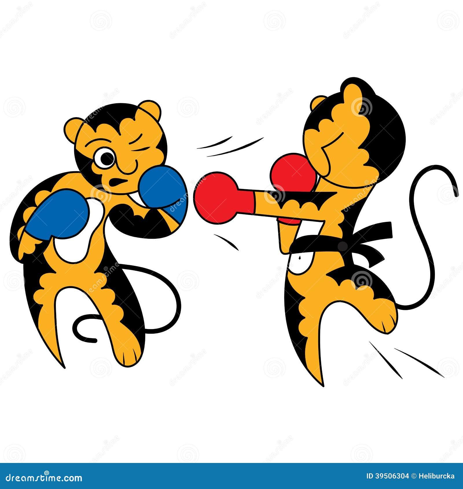 vector cartoon two tiger cub cute young martial arts stock karate clip art free download karate clipart free small