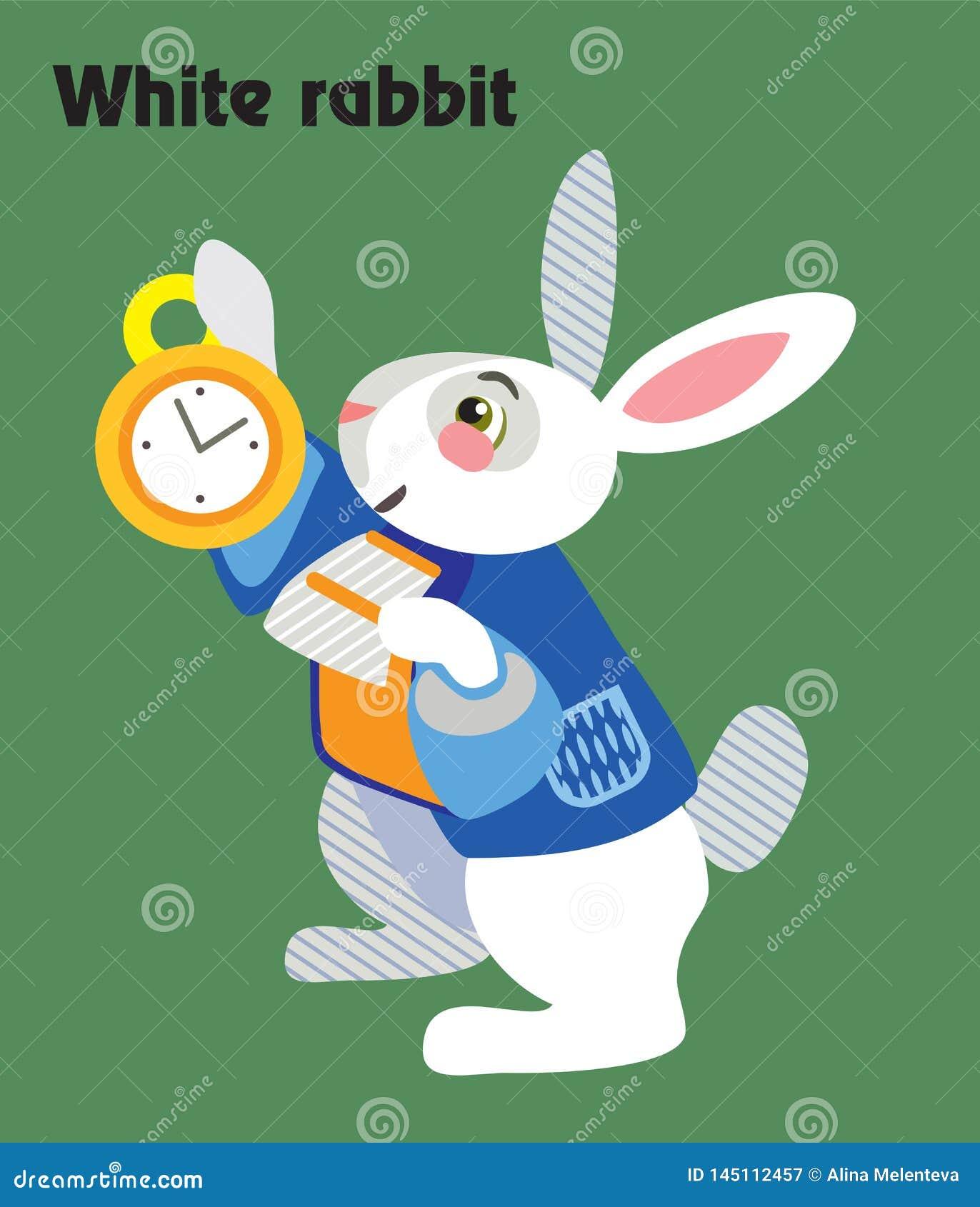 Vector Cartoon White Rabbit Stock Vector Illustration Of Bunny