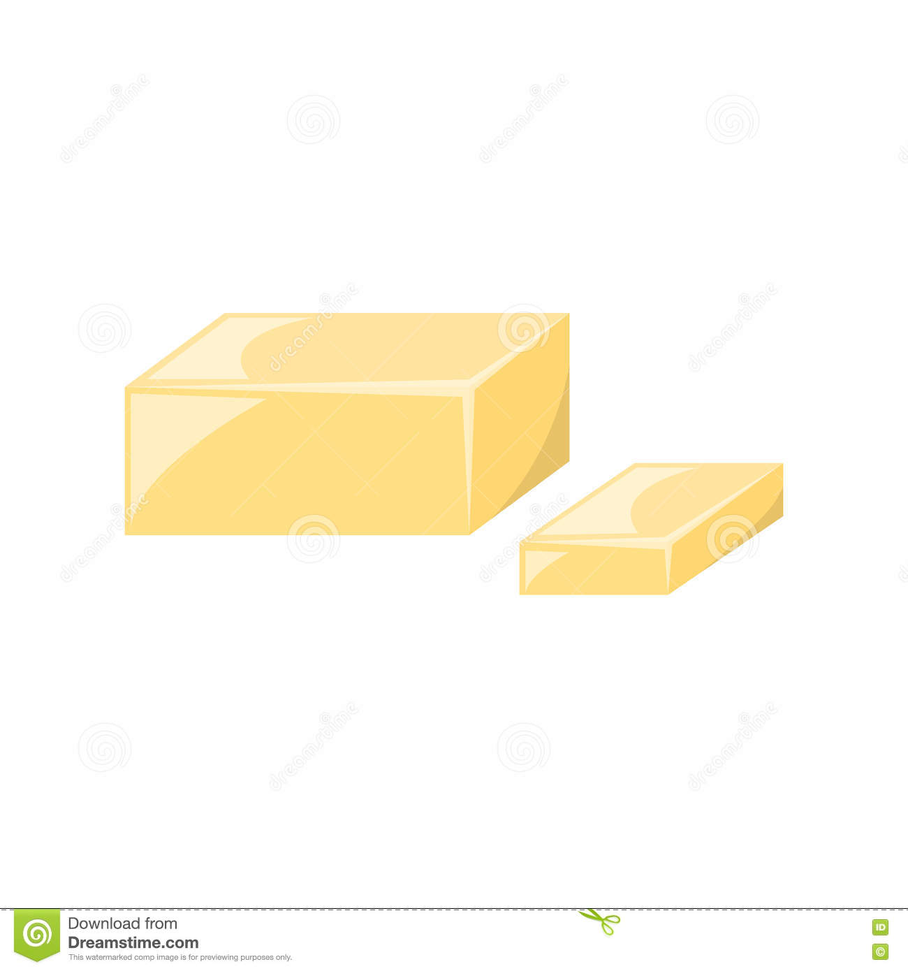 Vector Cartoon Yellow Butter Stock Vector - Illustration ...