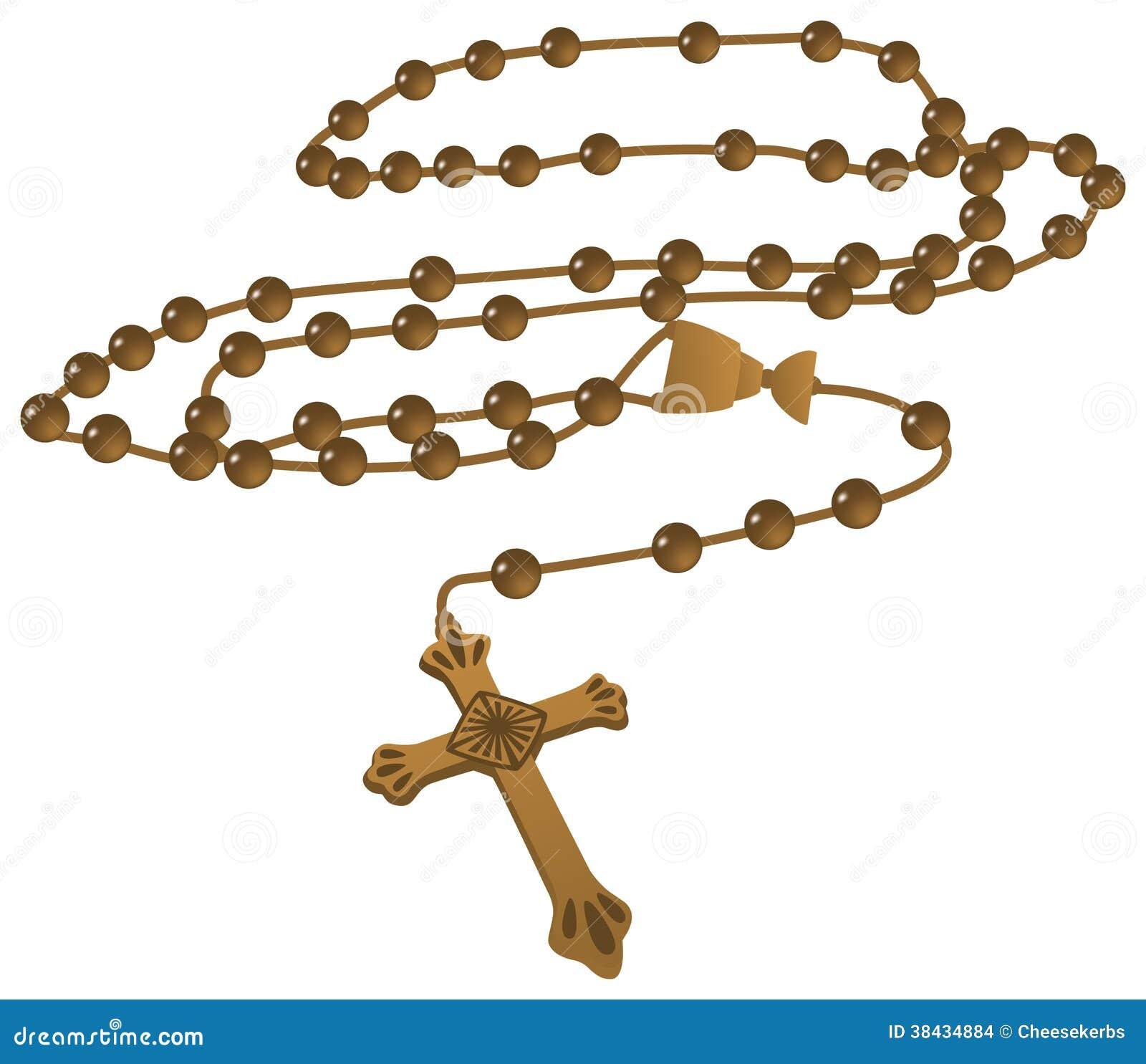 Vector Católico Elegante Del Rosario De Brown Imagenes de archivo ...