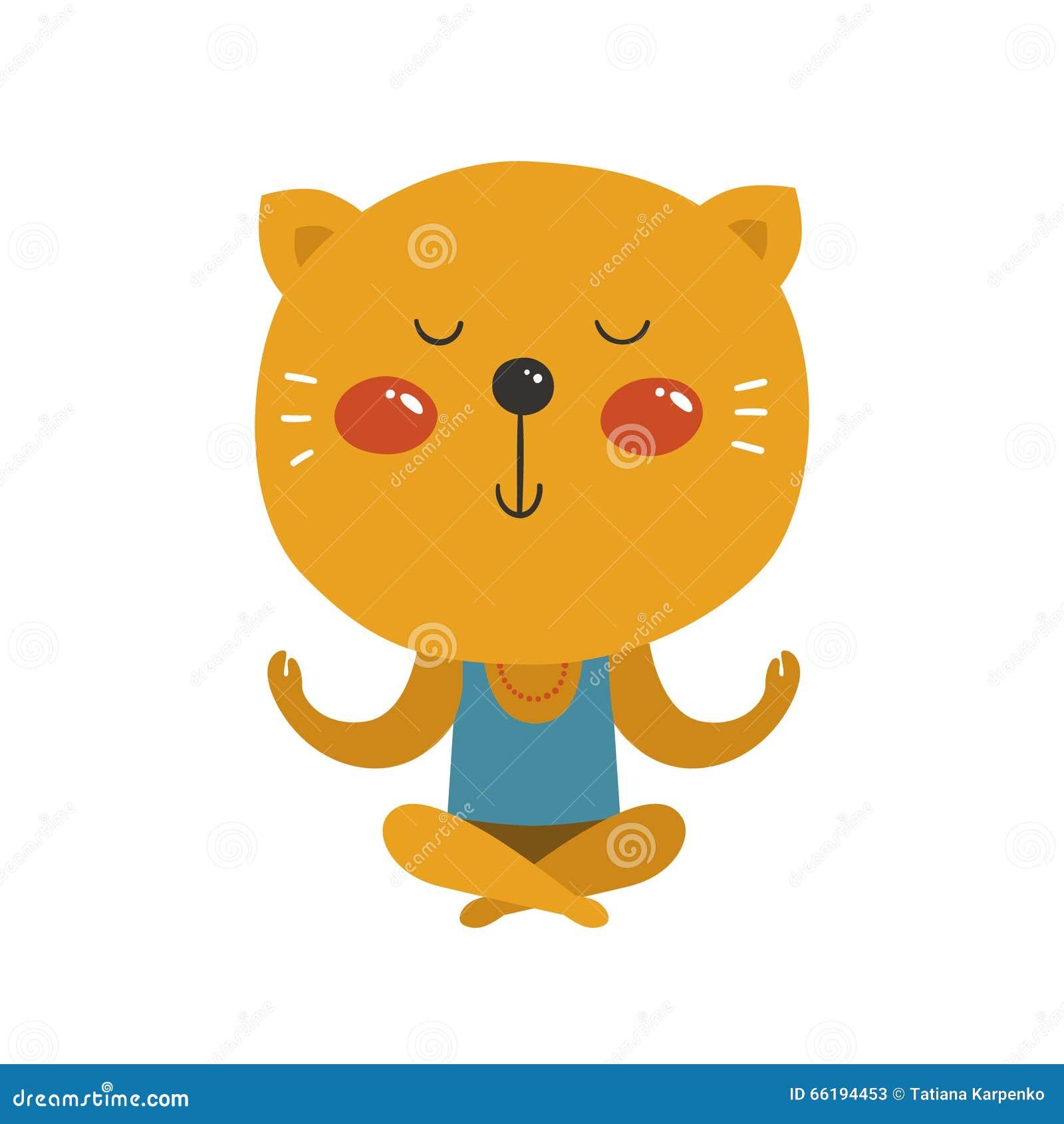Vector Cat Yoga Stock Vector - Image: 66194453