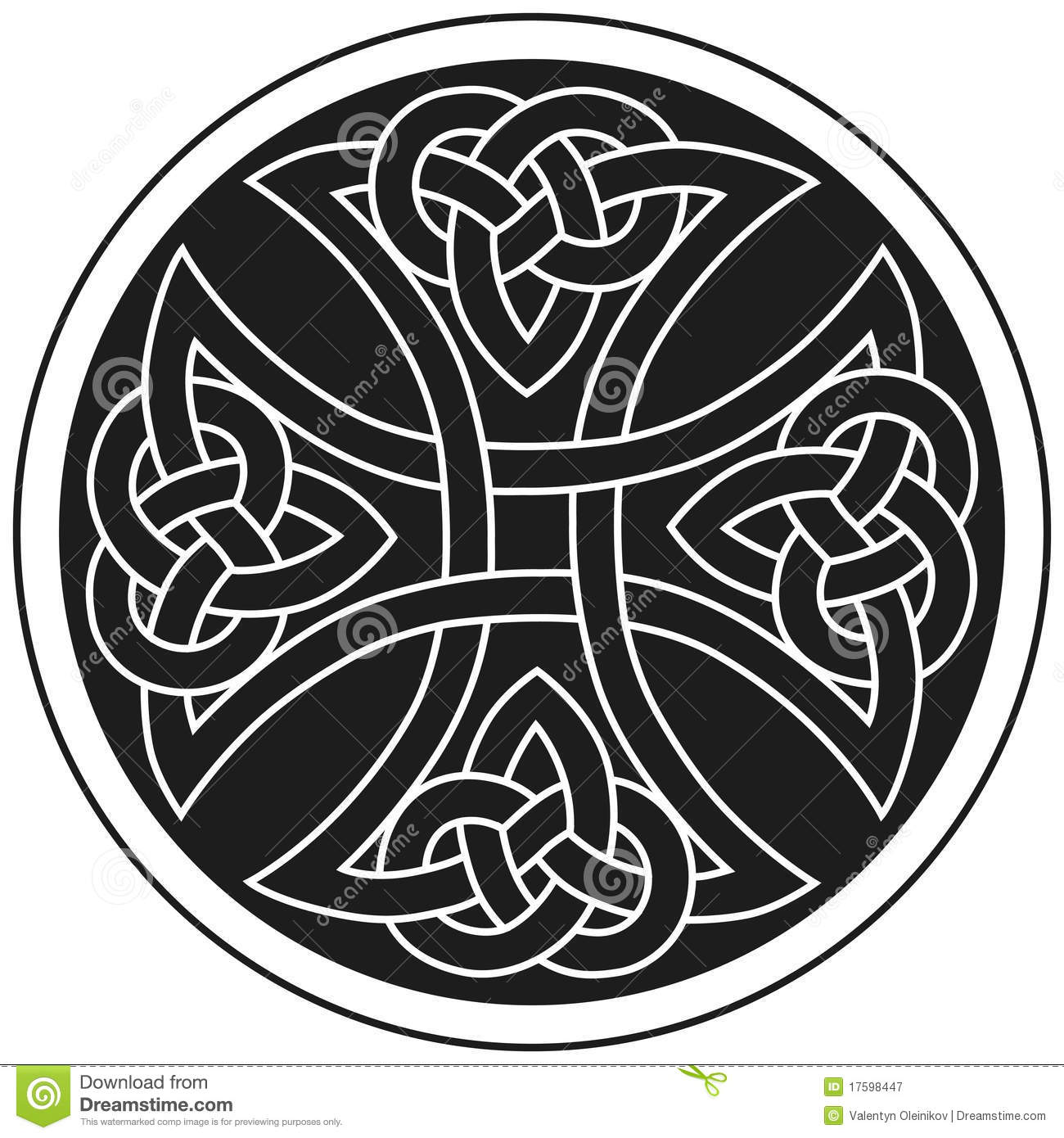 Vector celtic cross traditional ornament stock vector image vector celtic cross traditional ornament royalty free stock photo voltagebd Gallery