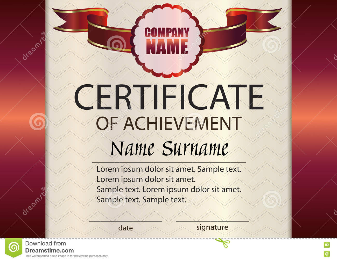 winner certificate template - vector certificate of achievement template award winner