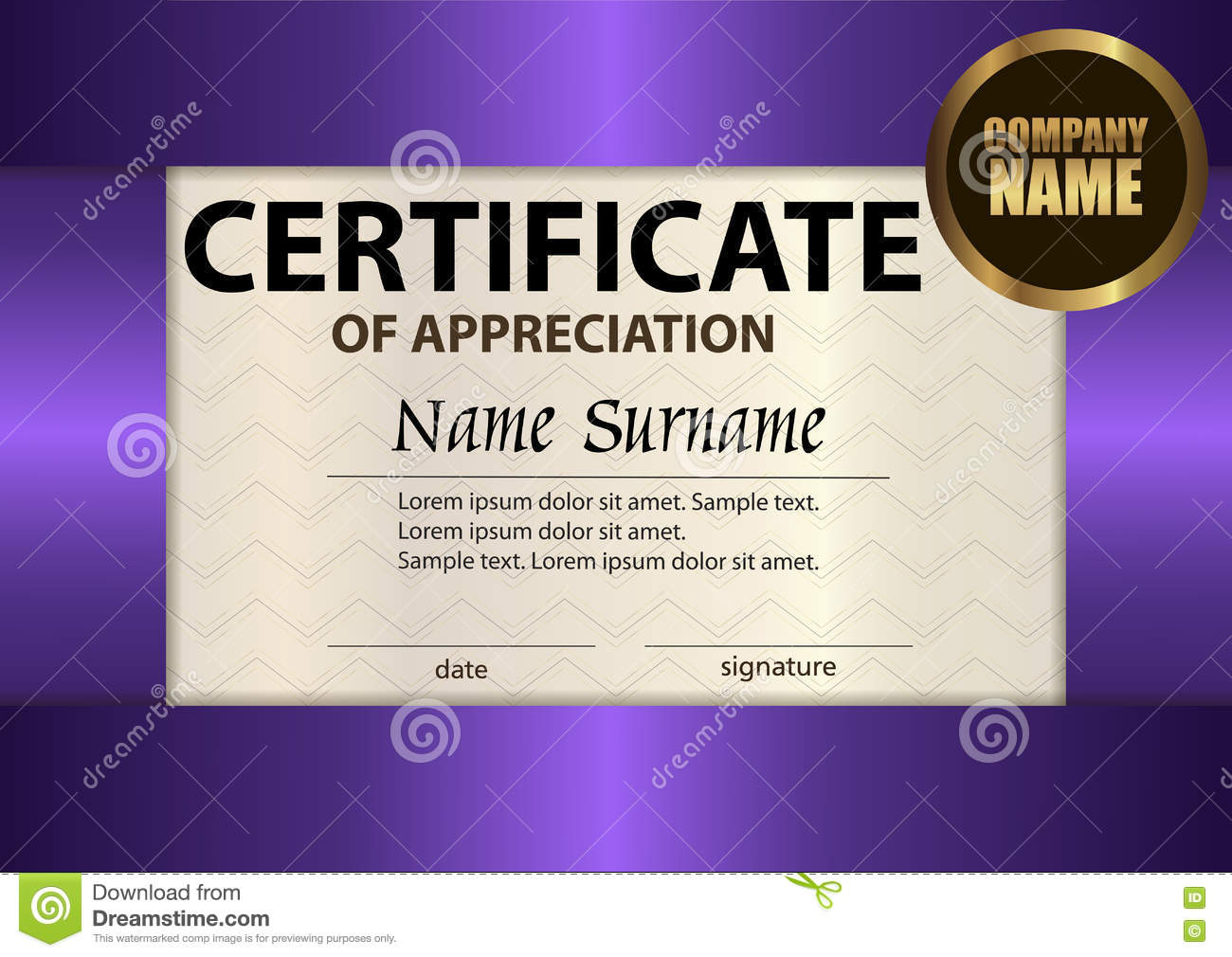 Vector certificate of appreciation template award winner rewar vector certificate of appreciation template award winner rewar yelopaper Images