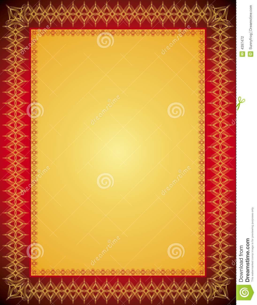 Vector Certificate Background Stock Photography Image