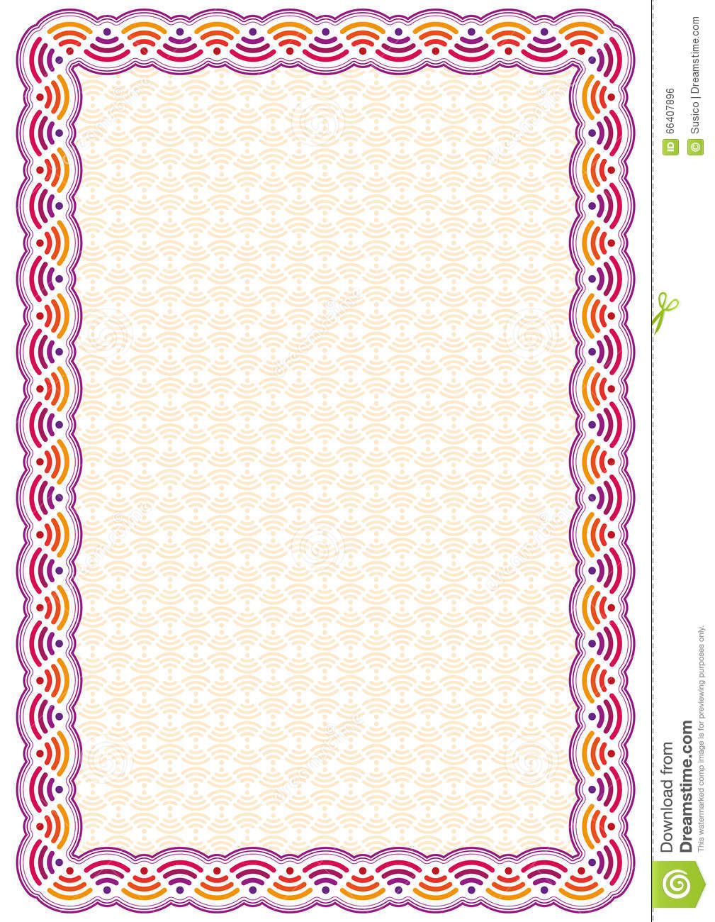 Vector certificate border template with additional design elements royalty free yadclub Choice Image