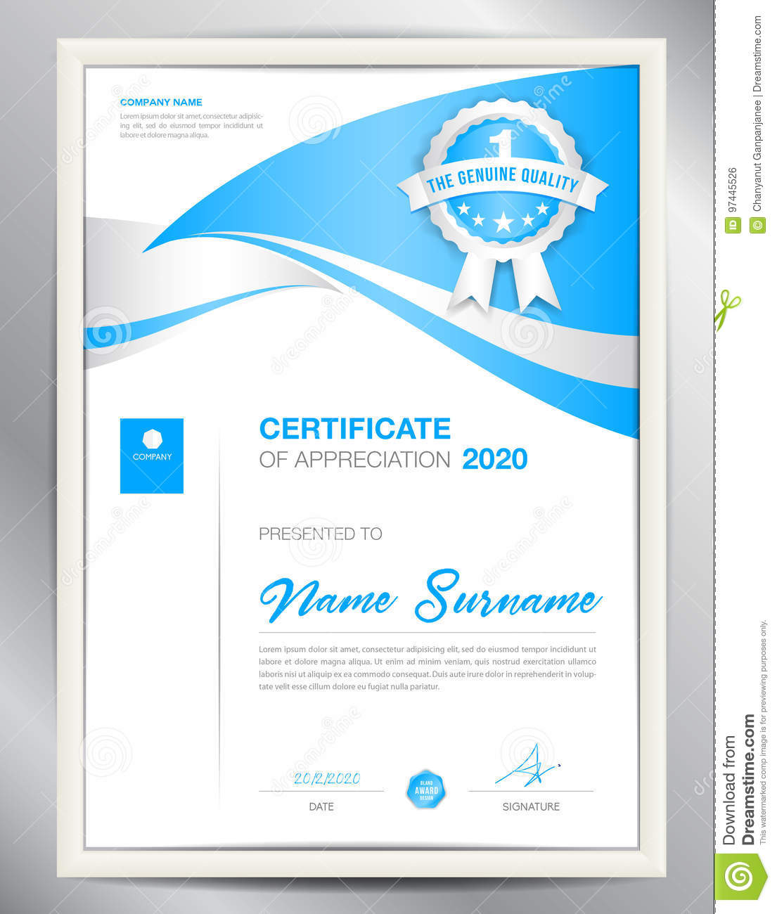 vector certificate template business flyer layout design stock