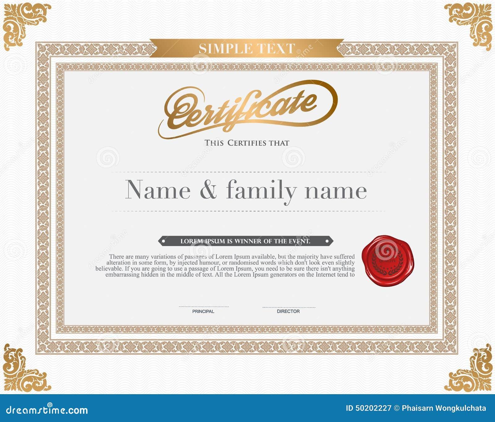 vector certificate template - Certificate Template Illustrator