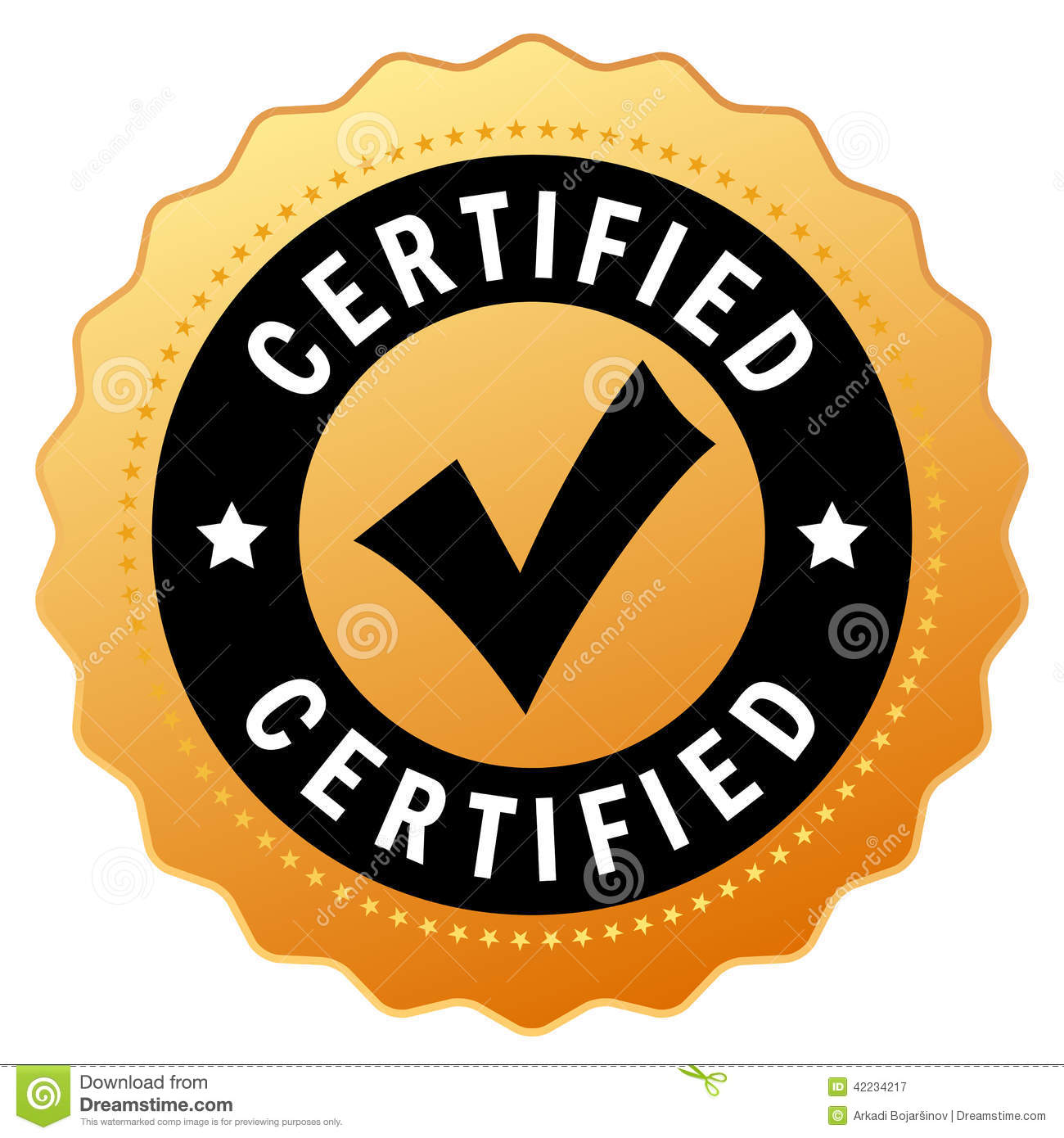 Vector Certified Icon Stock Vector - Image: 42234217: www.dreamstime.com/stock-illustration-vector-certified-icon...