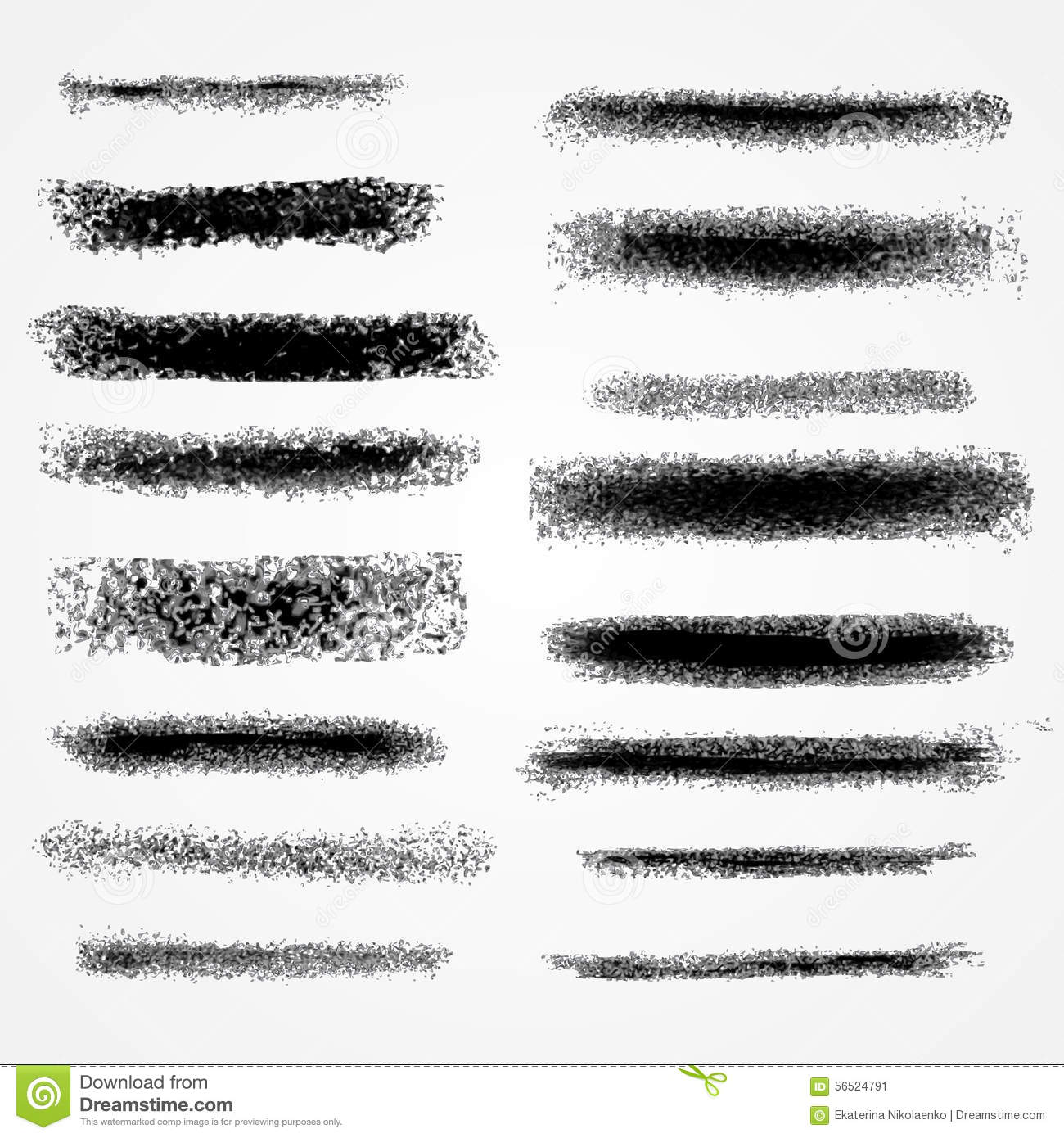 Modern Classroom Vector ~ Vector chalk lines or brushes stock image