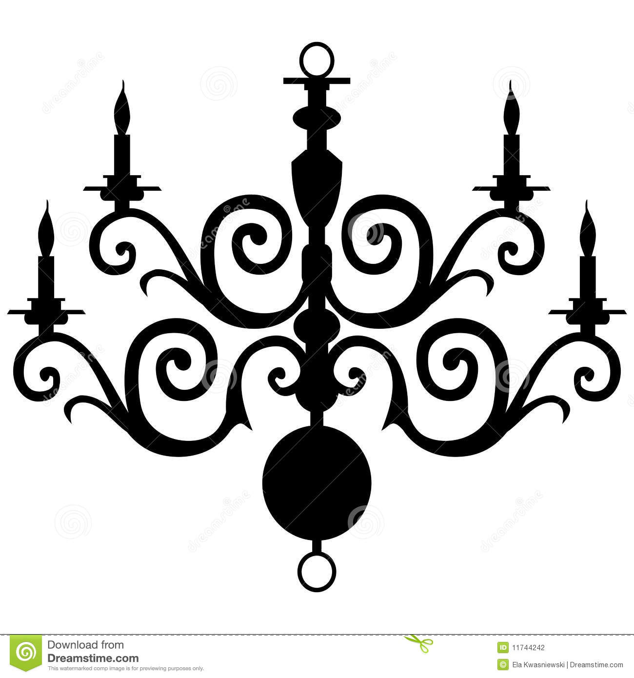 Vector Chandelier Silhouette Stock Vector - Illustration of lamp ...