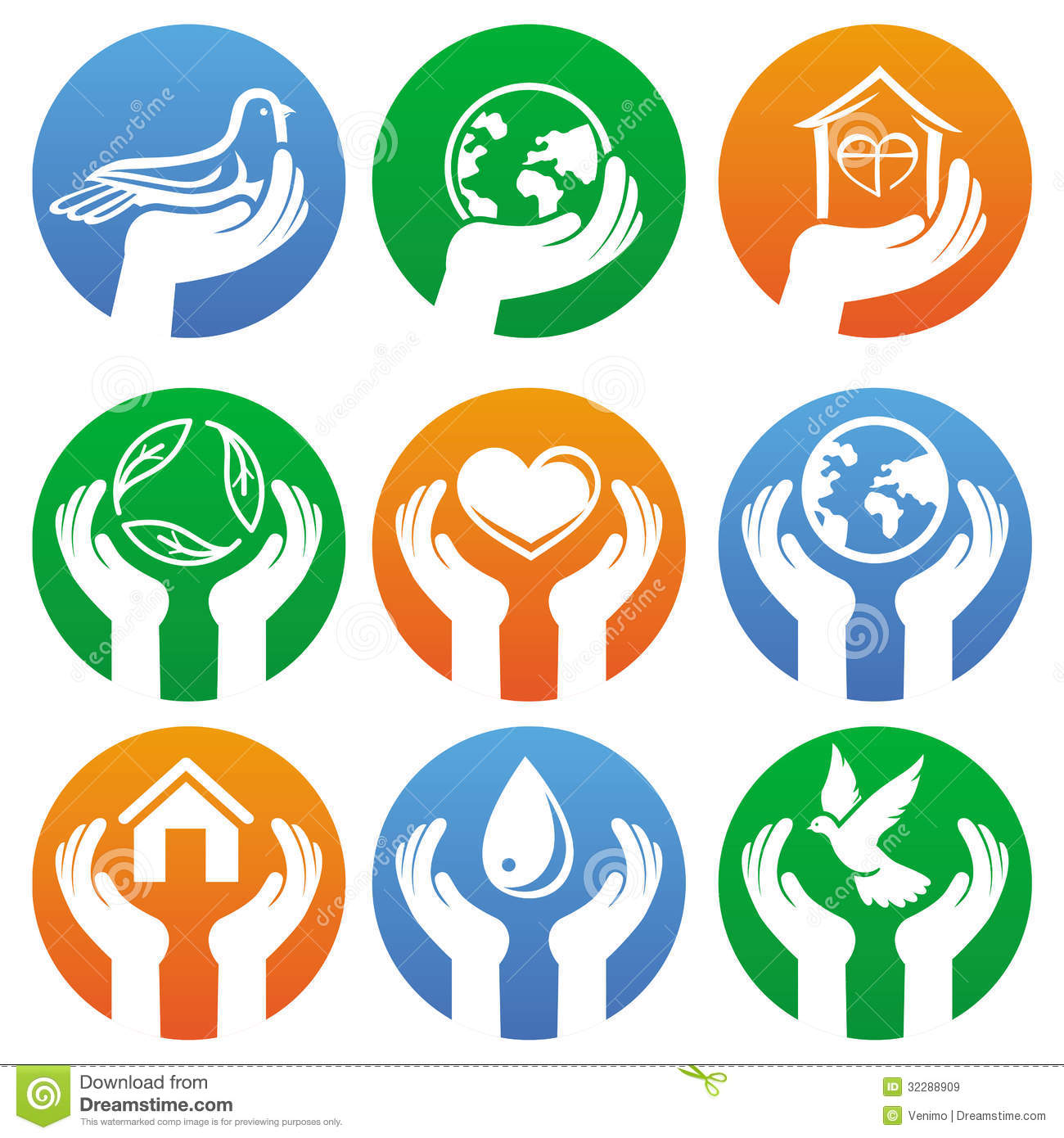 Vector Charity Signs And Logos Stock Vector