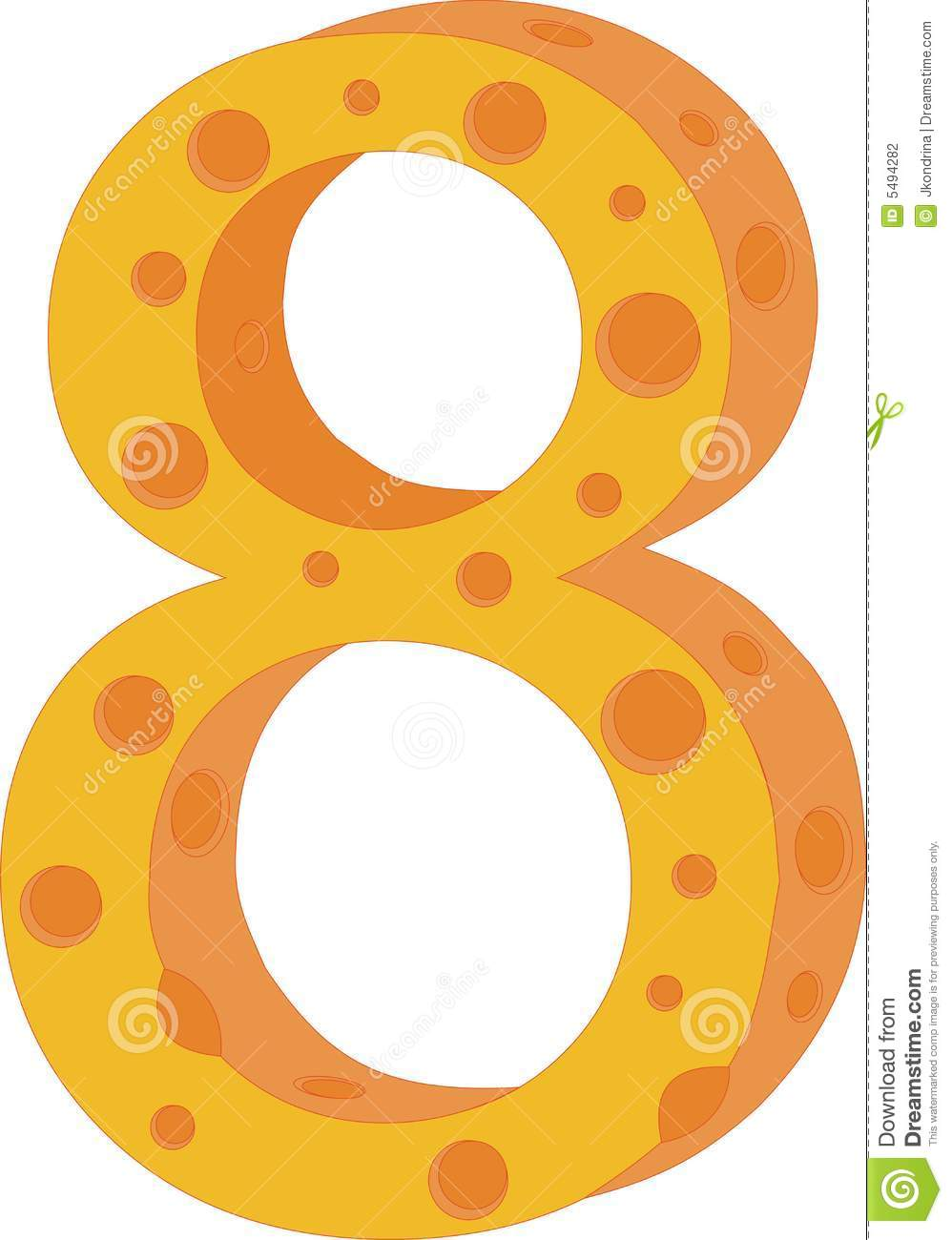 8 Of Hillary Clinton S Most Well Known New York Magazine: Vector Cheese Numeral Eight Stock Photography