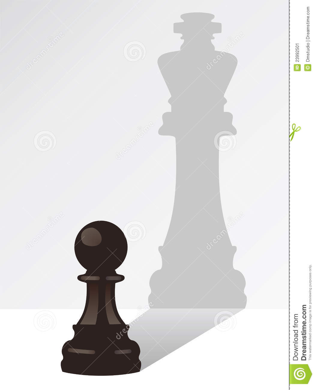 Vector Chess Pawn With The Shadow Of A King Stock Vector ...