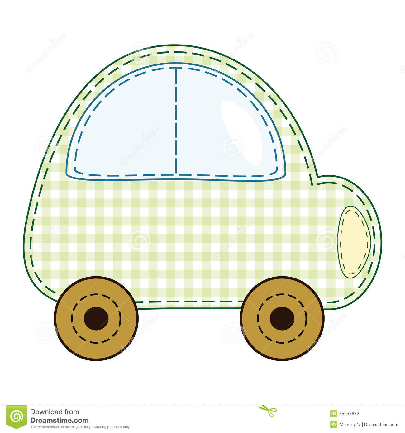 vector children u0027s green toy car stock photography image 35053682