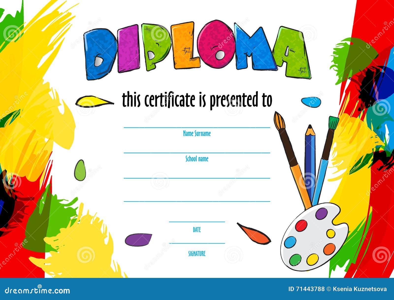 Imagenes De Diplomas Infantiles