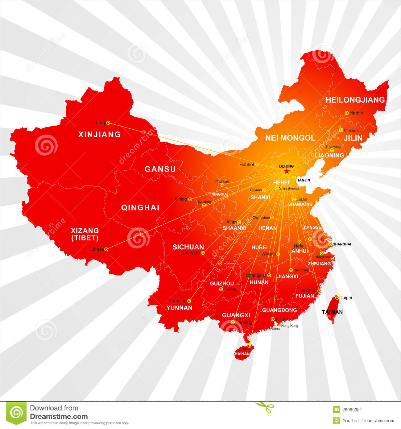 Vector China Map Stock...