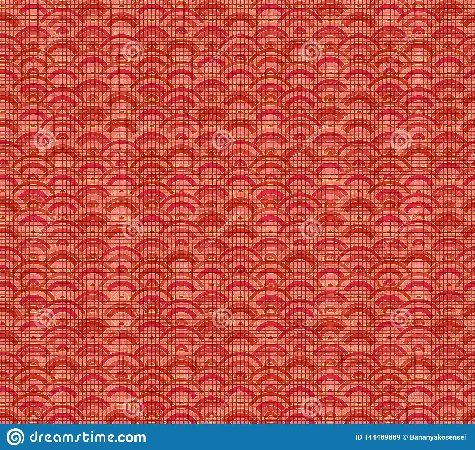 Vector Chinees Patroon, Naadloze Achtergrond, Linnen Rode Textiel