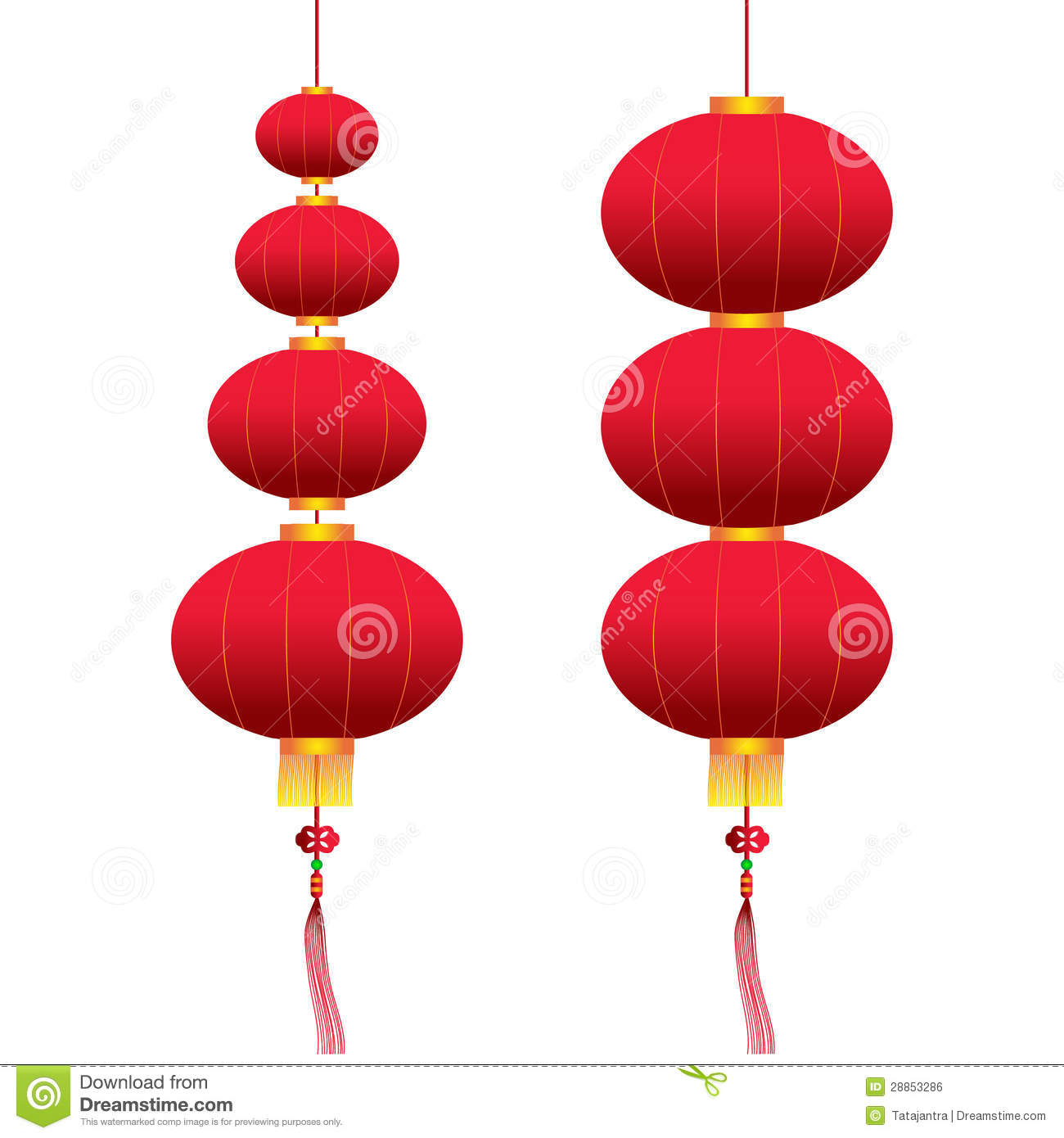 Vector chinese hanging lanterns royalty free stock image for Chinese vector