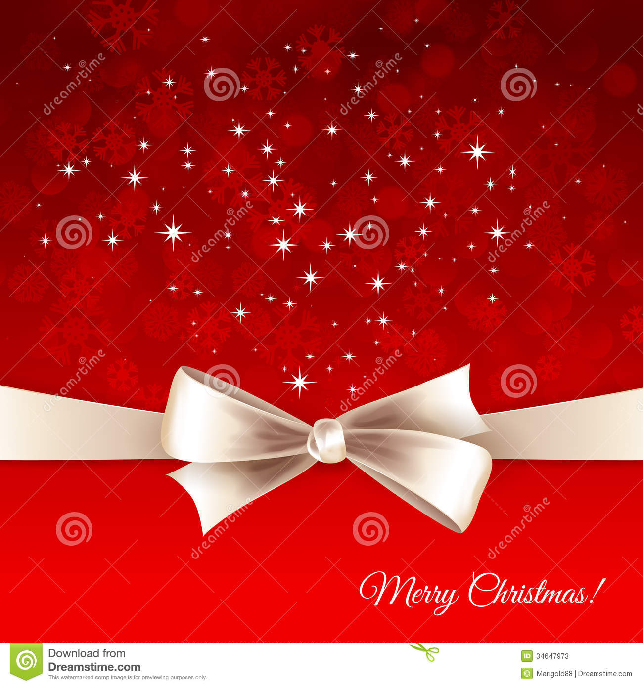 vector christmas background with bow stock vector