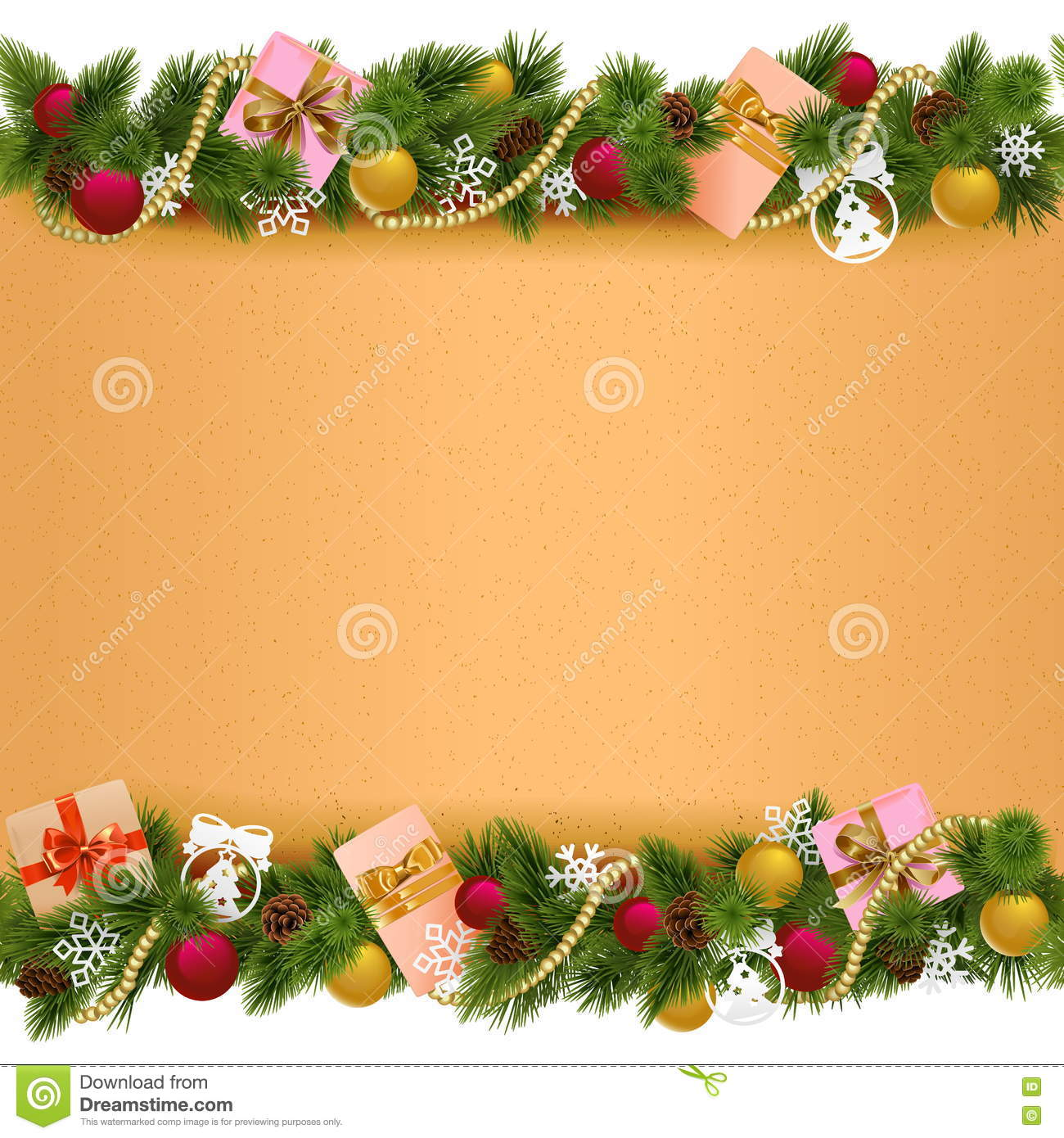 download vector christmas border with paper scroll stock vector illustration of frame december