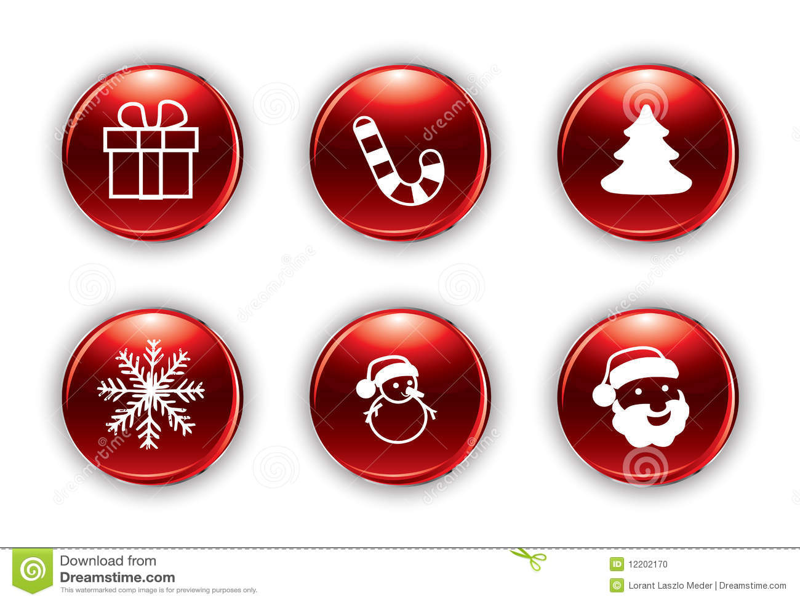 vector christmas buttons - Christmas Buttons