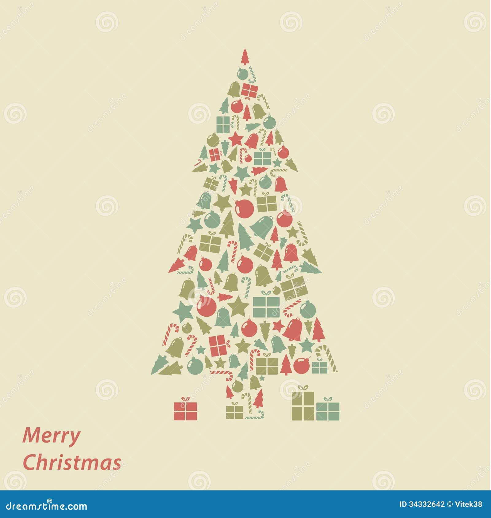 Vector christmas card modern christmas square background Modern christmas