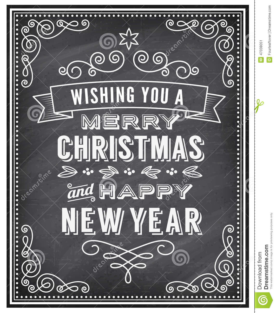 Vector Christmas Chalkboard Greeting Card Stock Vector ...