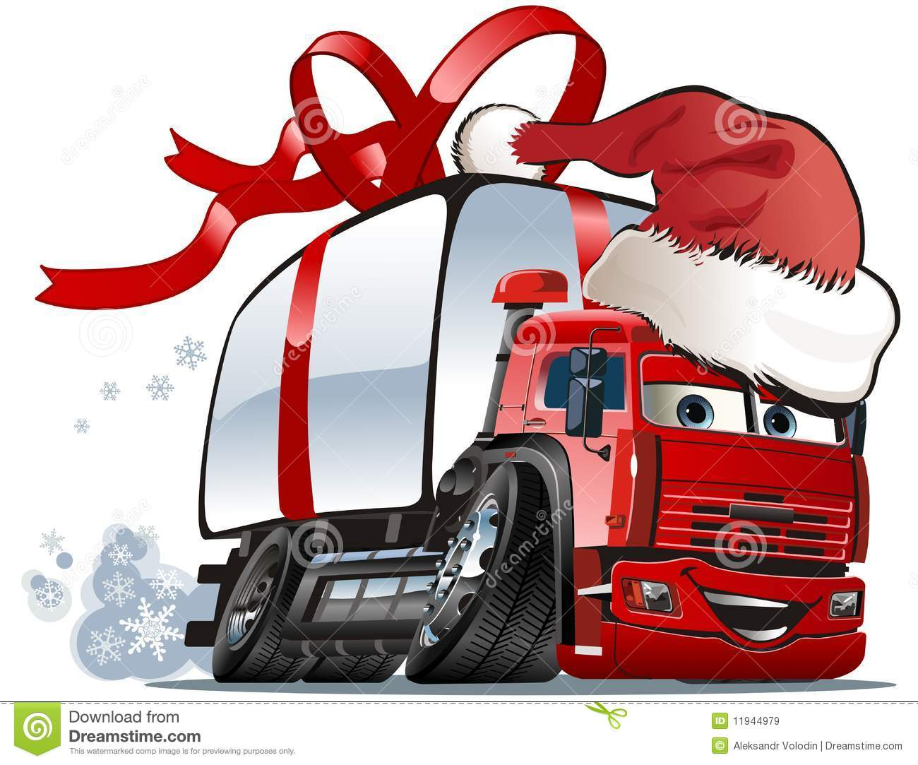 vector christmas delivery cargo truck royalty free stock. Black Bedroom Furniture Sets. Home Design Ideas