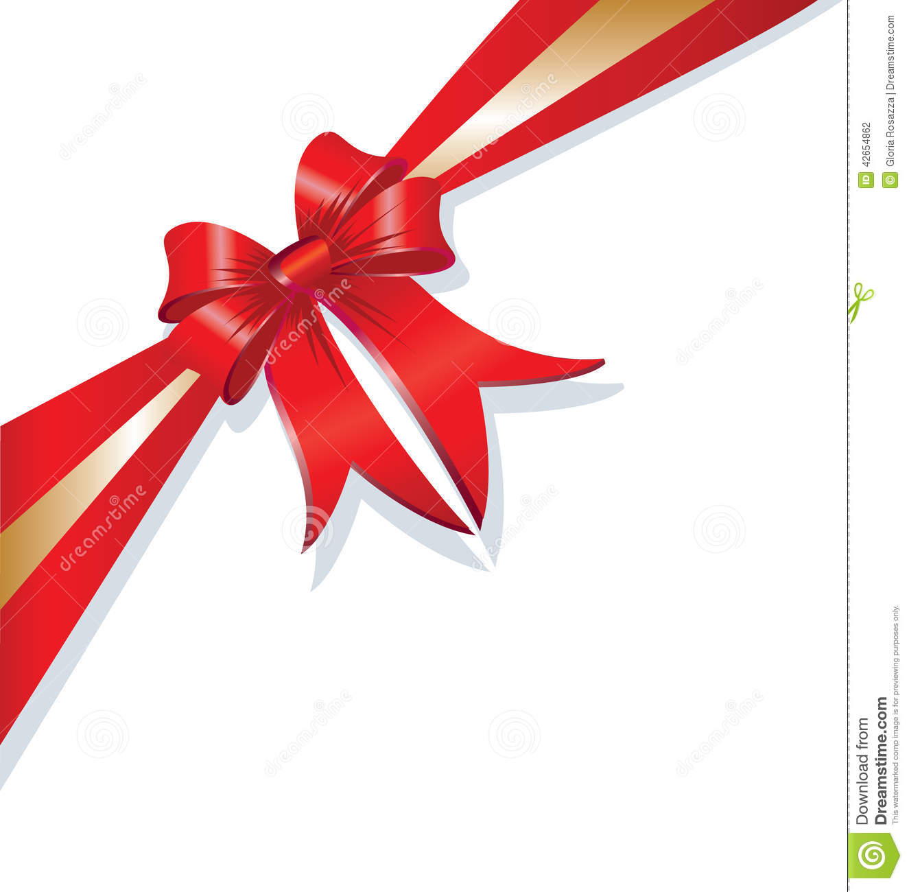 Vector Christmas Gift Ribbon Design Stock Vector - Image: 42654862