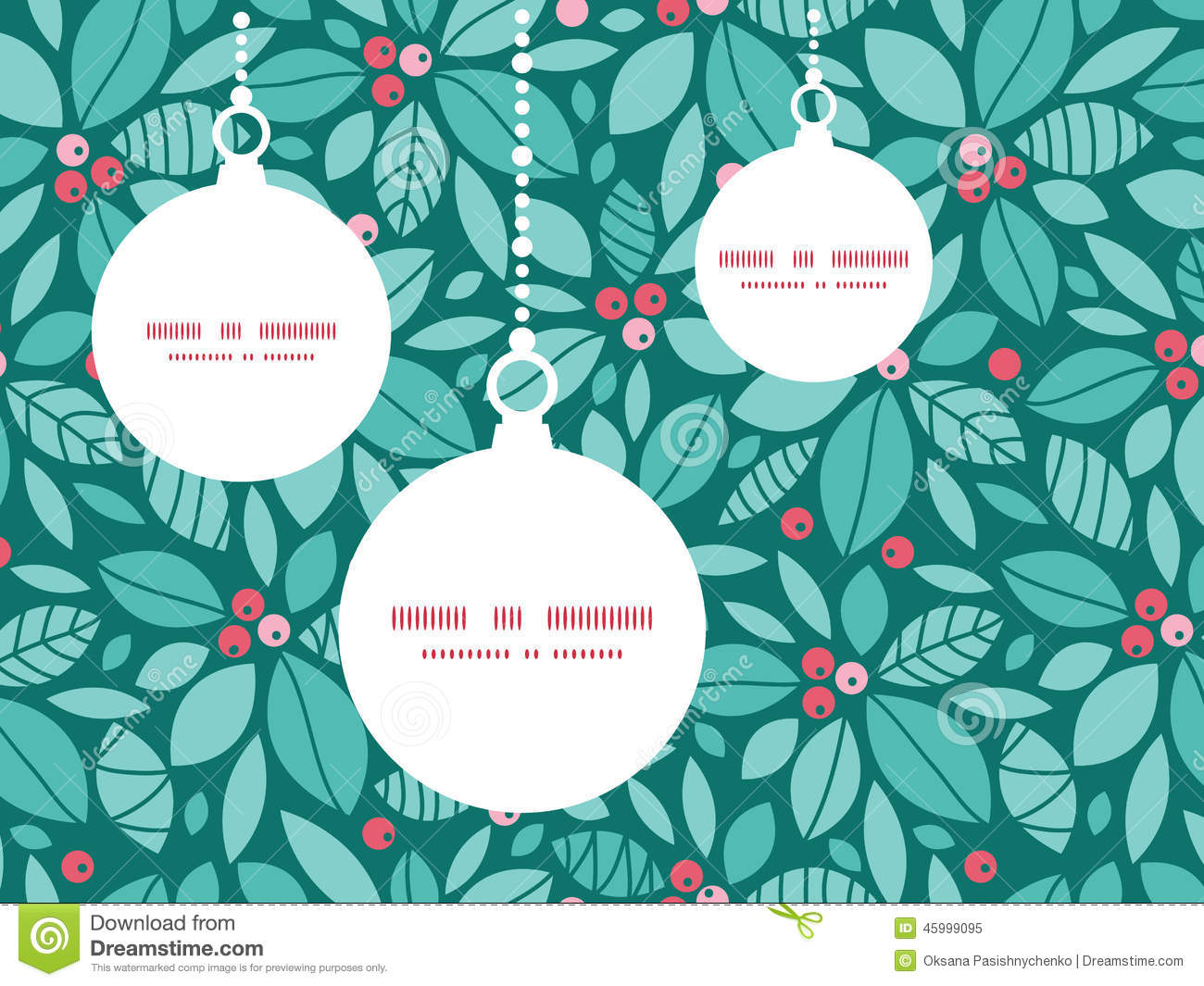 Vector Christmas Holly Berries Christmas Ornaments Royalty Free Stock Photo
