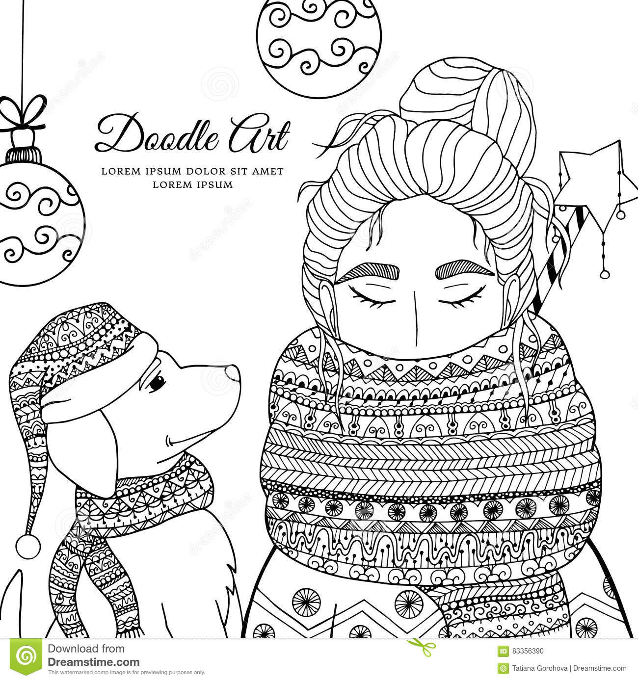 Labradoodle Dogs Coloring Pages Sketch Coloring Page