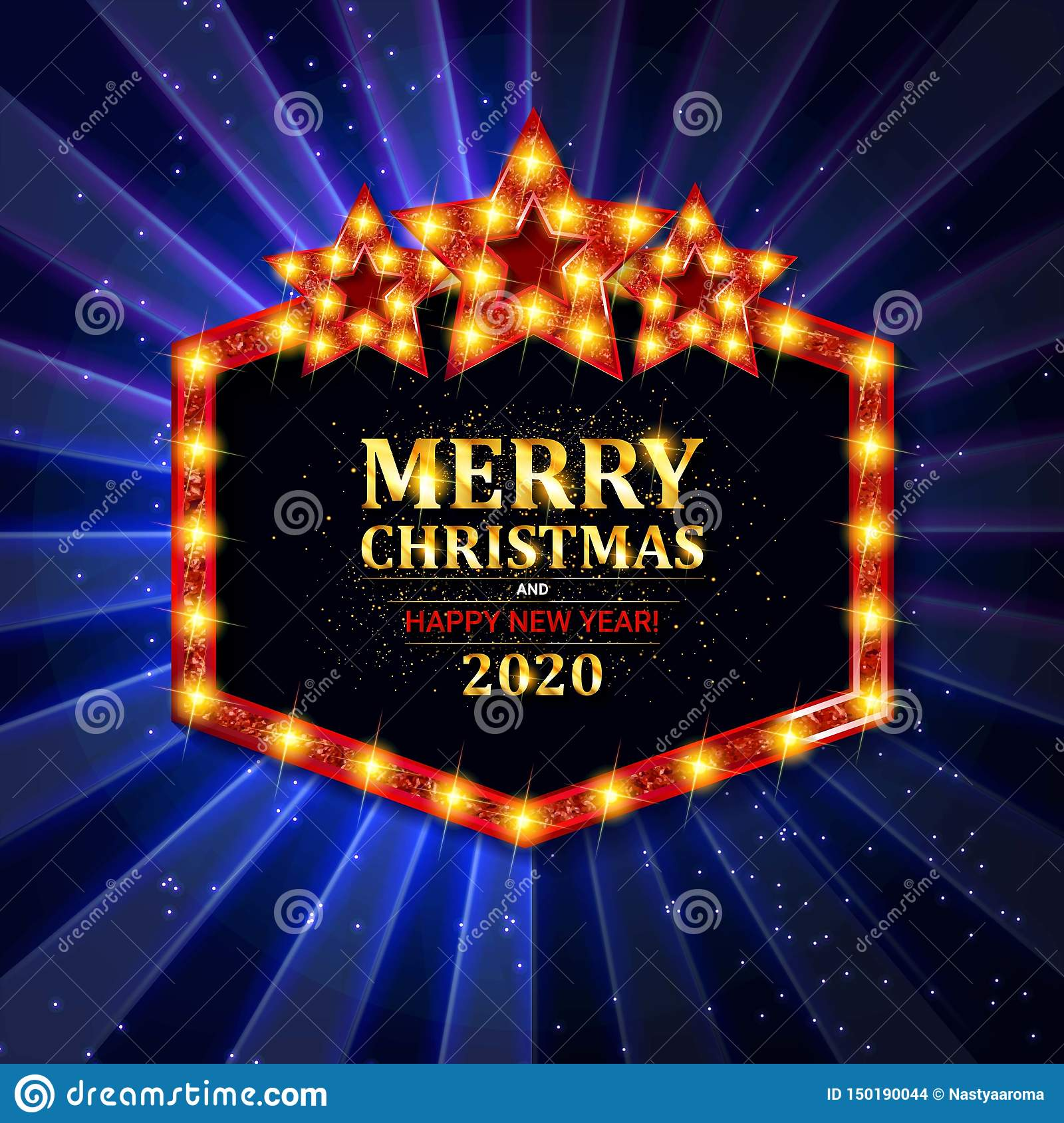 vector christmas and new year 2020 wishes on card stock vector illustration of frame design 150190044 https www dreamstime com vector christmas new year wishes card related ornaments objects color background illustration image150190044