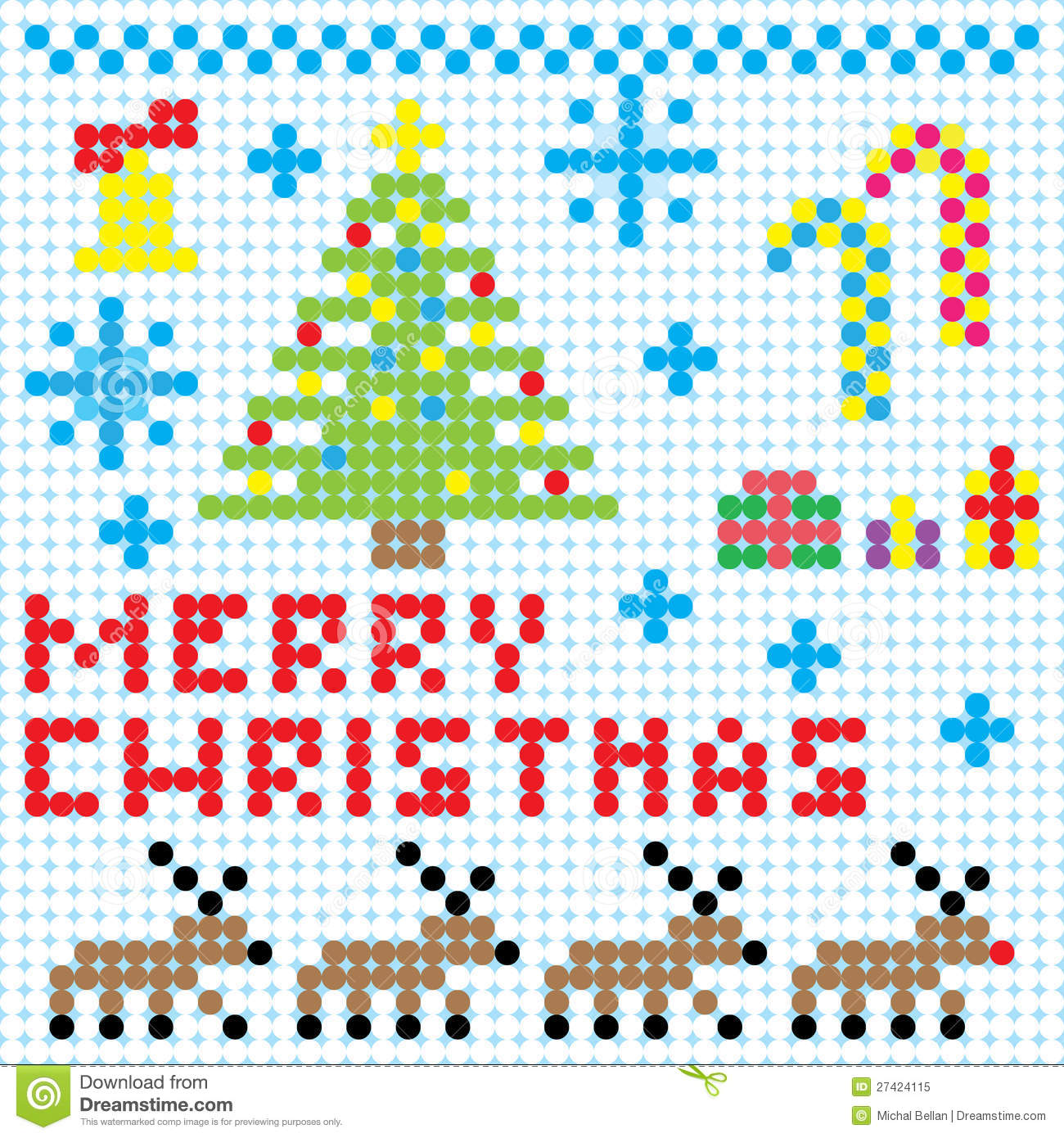 Vector Christmas Pixel Art Illustration 27424115 Megapixl