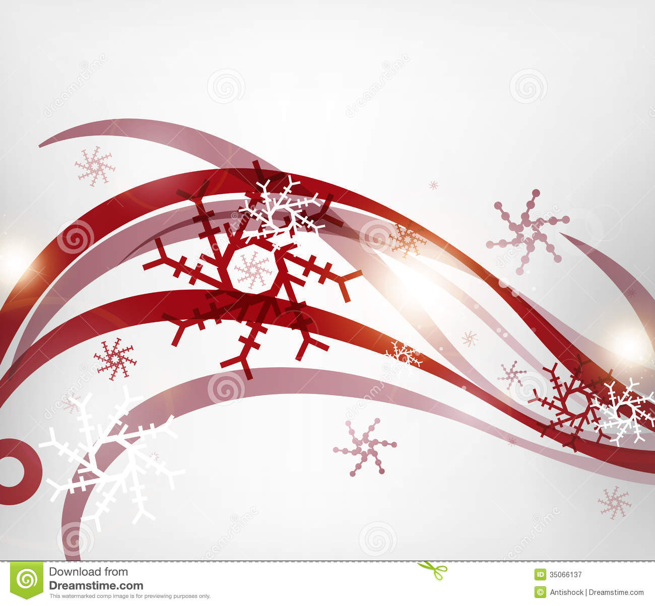 Vector Christmas Wave Lines Lights Winter Cards Royalty