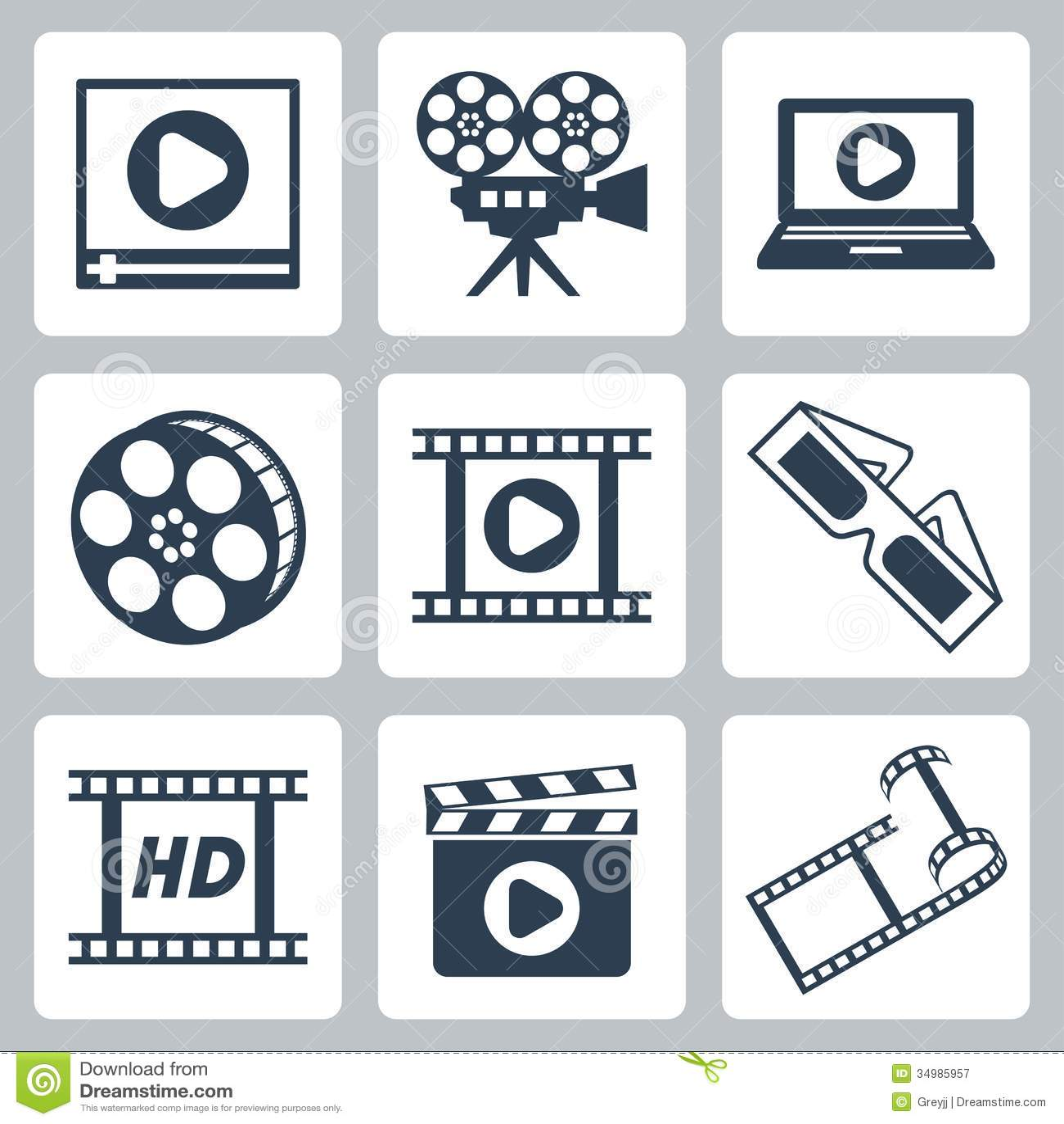 Vector Cinema/video Ic...