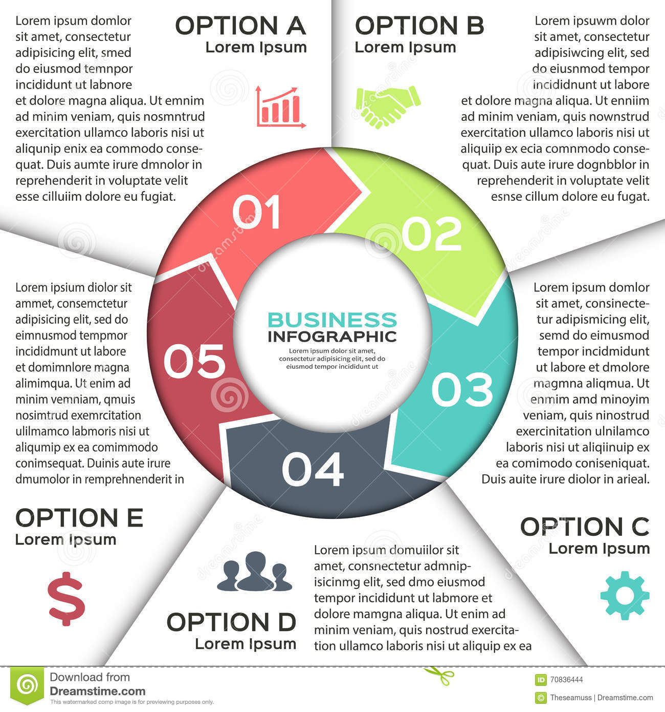 Vector circle arrows infographic diagram graph presentation royalty free ccuart Images