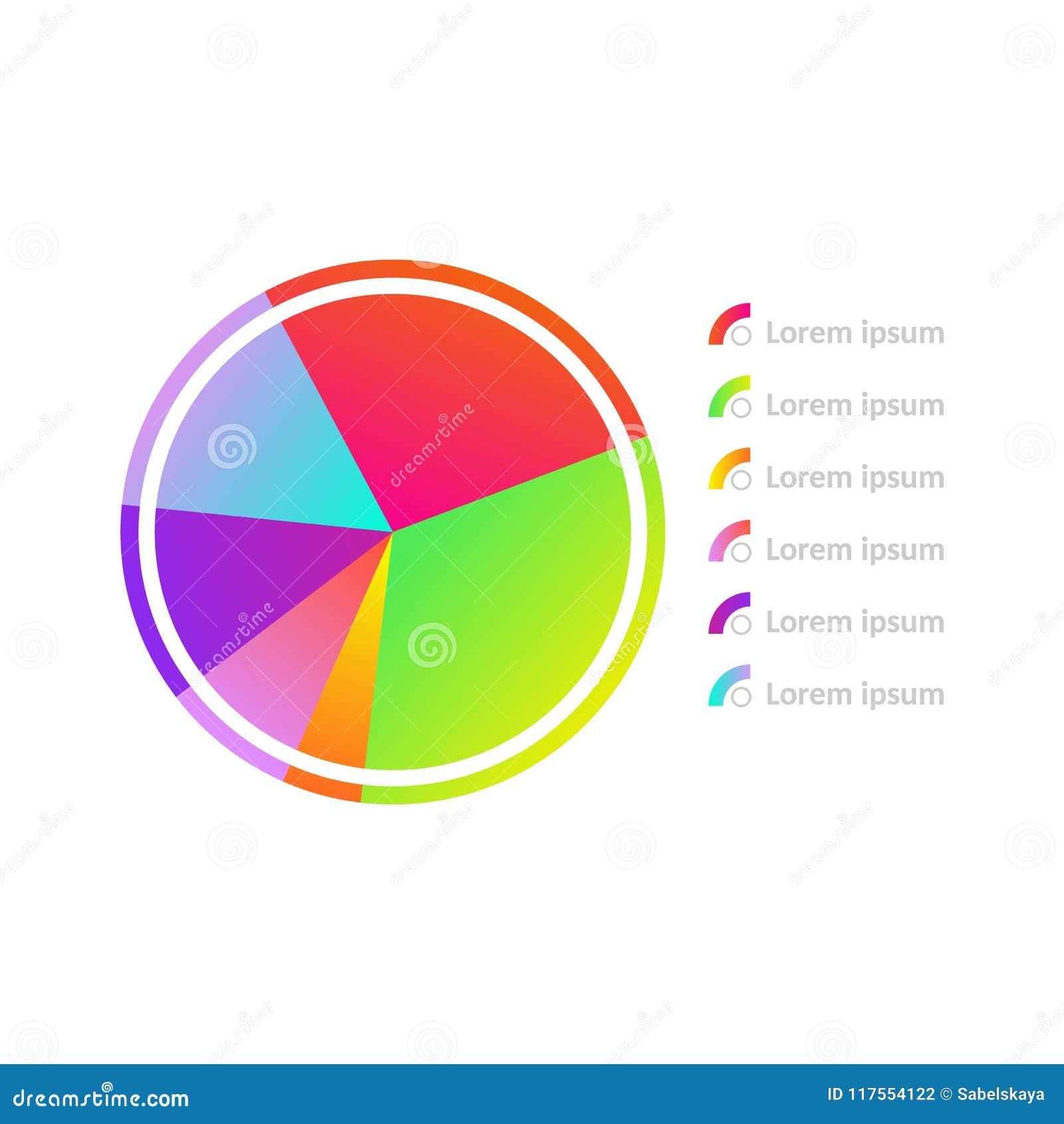 Vector Circle Diagram Chart Icon Stock Vector