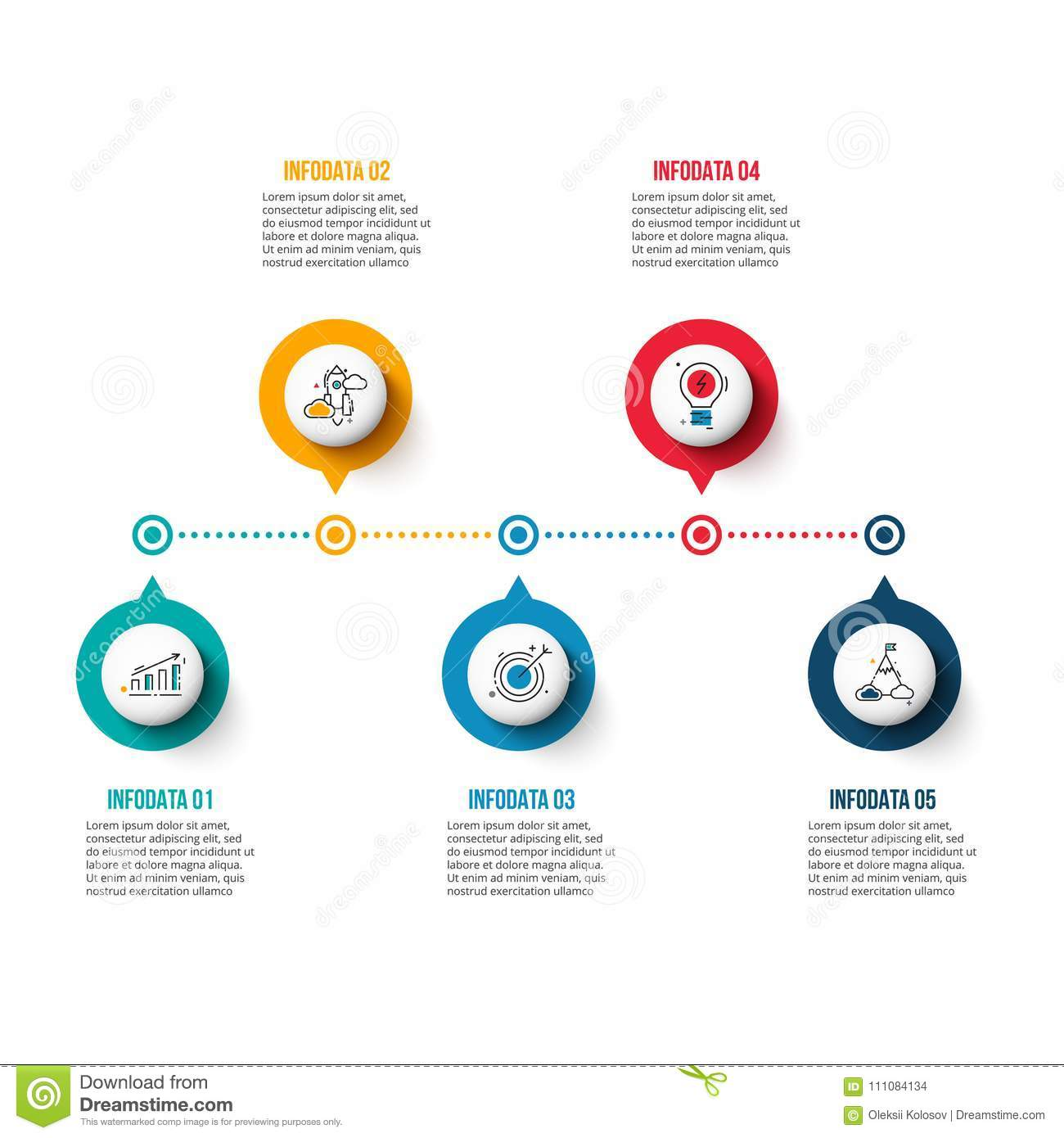 Vector Circle Elements For Timeline Infographic Stock Vector