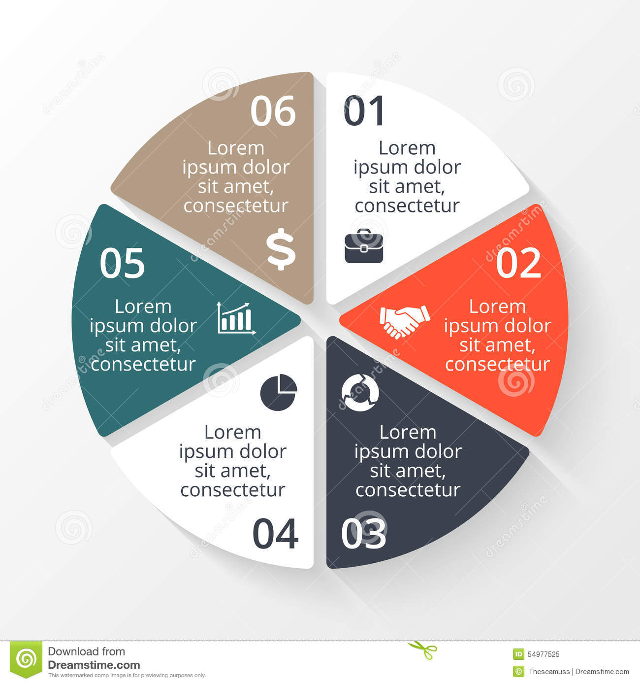 Vector circle infographic. Template for cycle