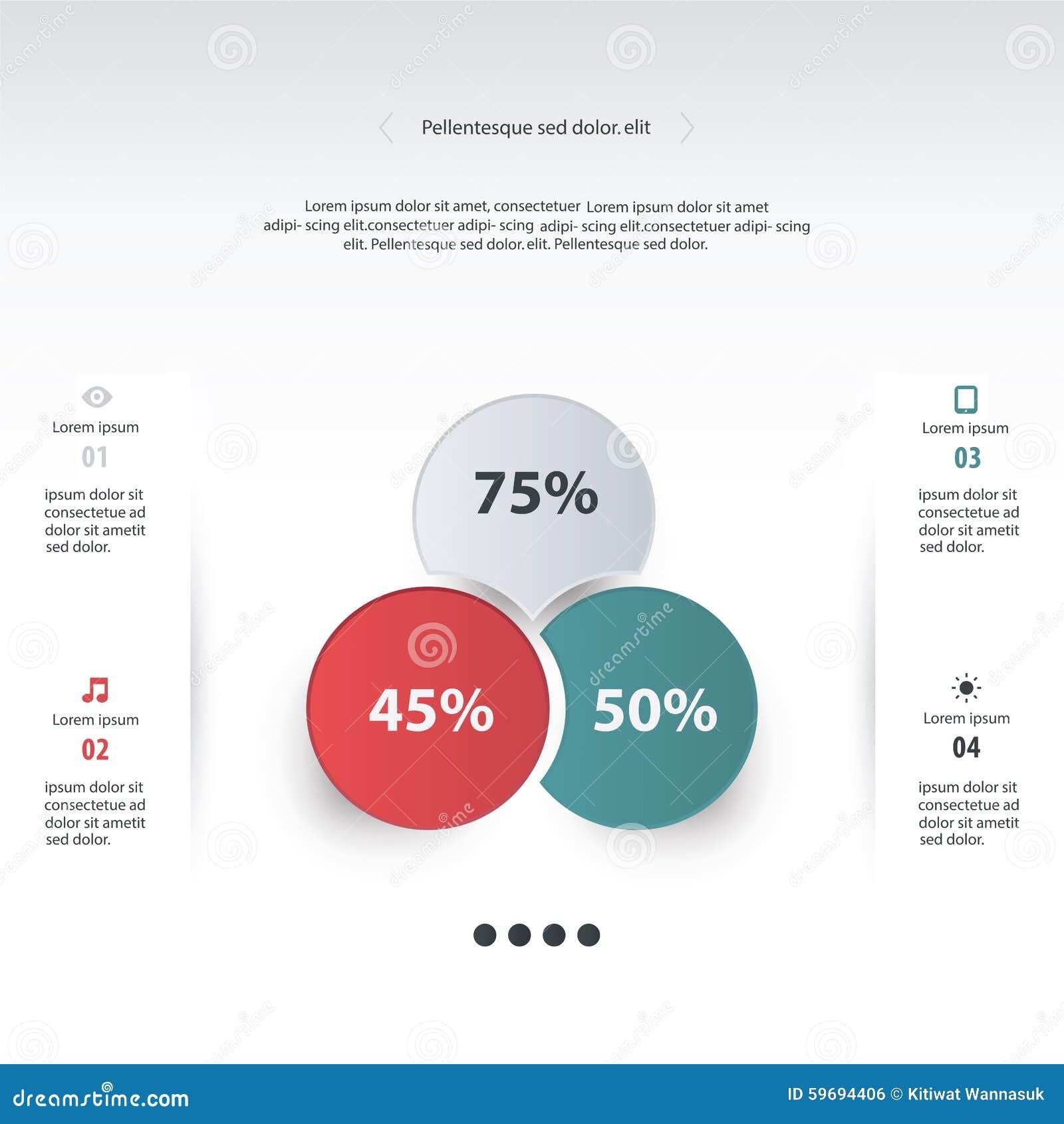 vector circle infographic template for diagram graph presenta