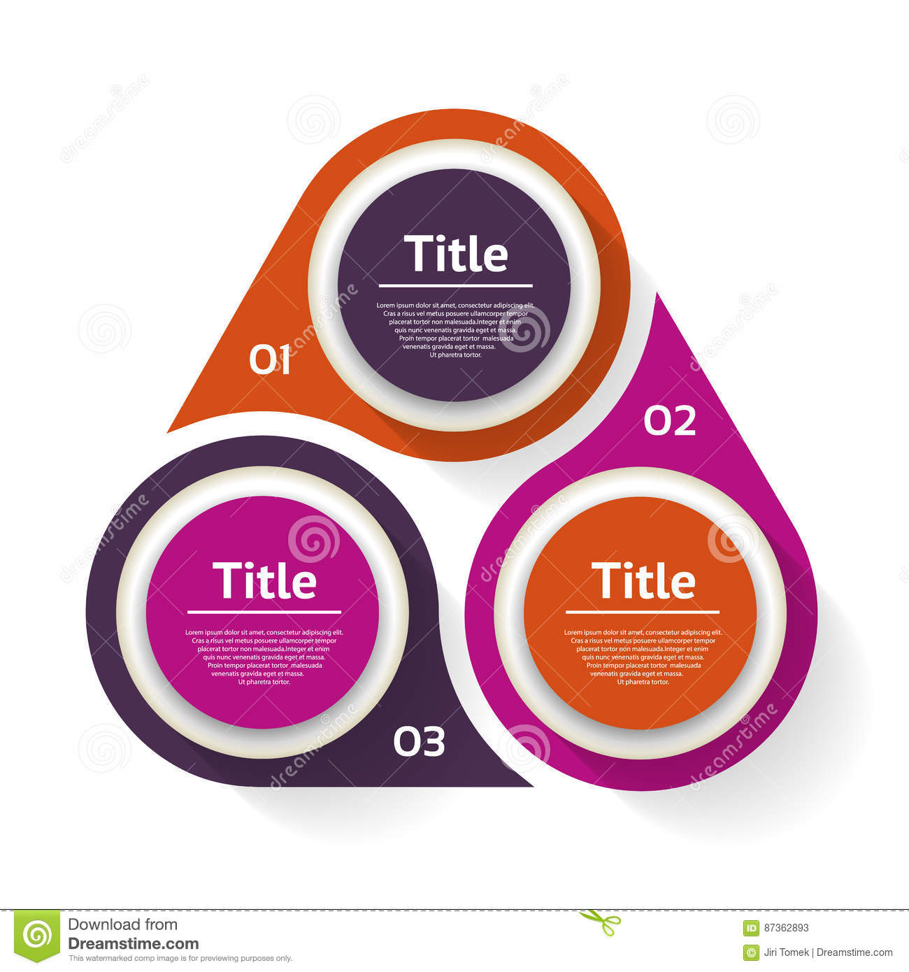 Vector Circle Infographic  Template For Diagram  Graph  Presentation And Chart  Business Concept