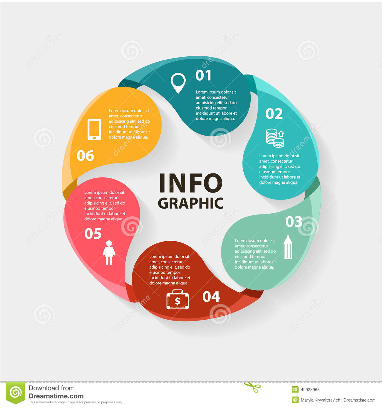 Vector circle infographics. Template for diagram