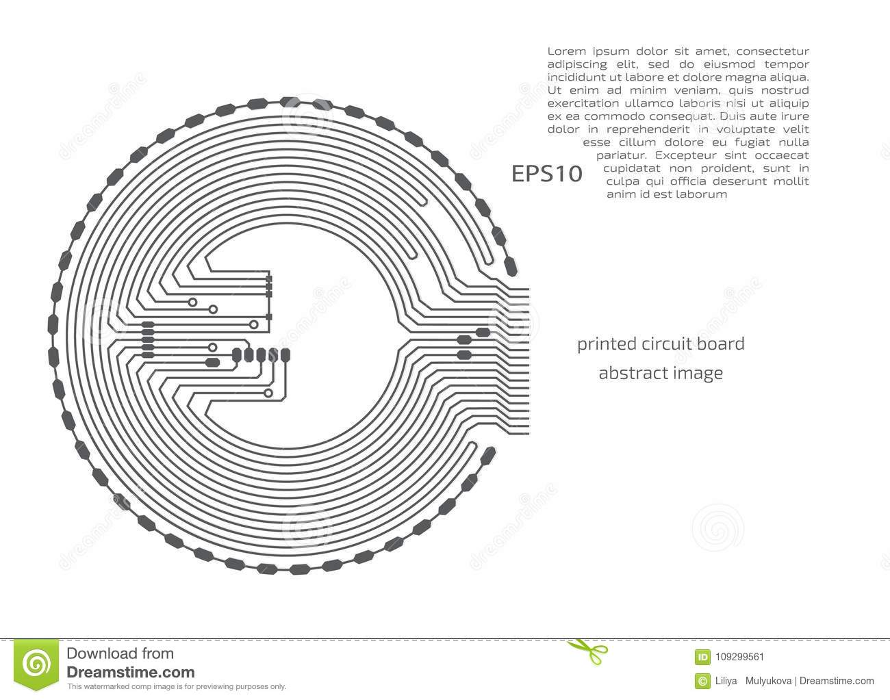 Circuit Board Background Vector Electronic Stock With Place For Text