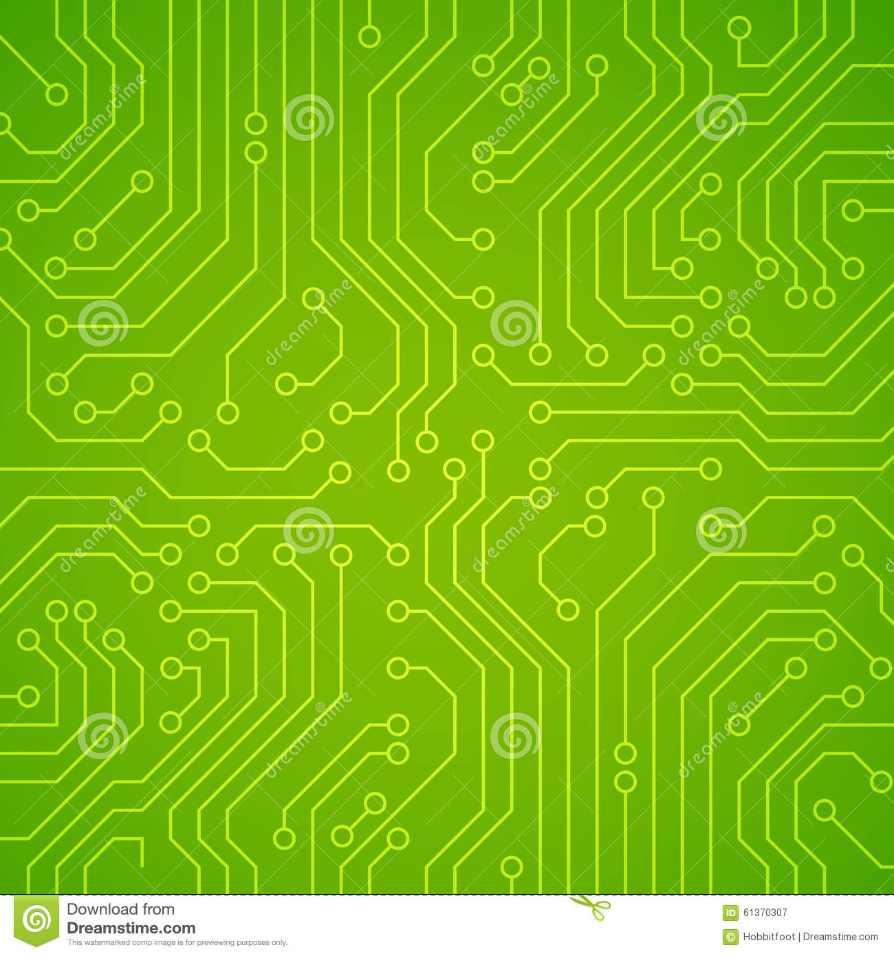 Vector Circuit Board Or Microchip. Stock Vector - Image ...