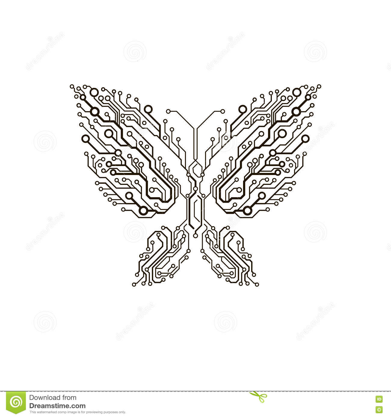 vector circuit butterfly stock vector  illustration of