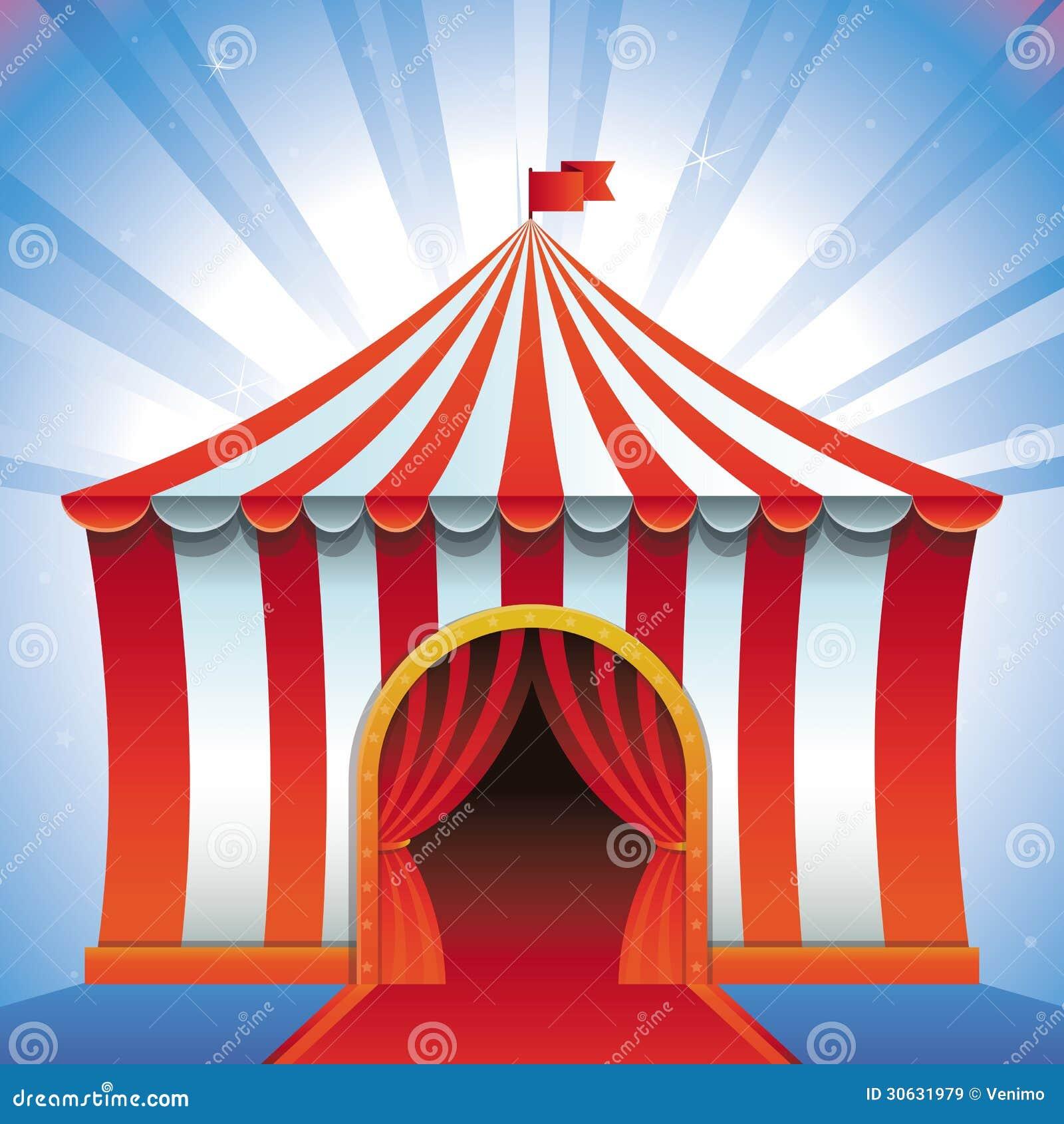 Vector Circus Tent Bright Icon Stock Vector